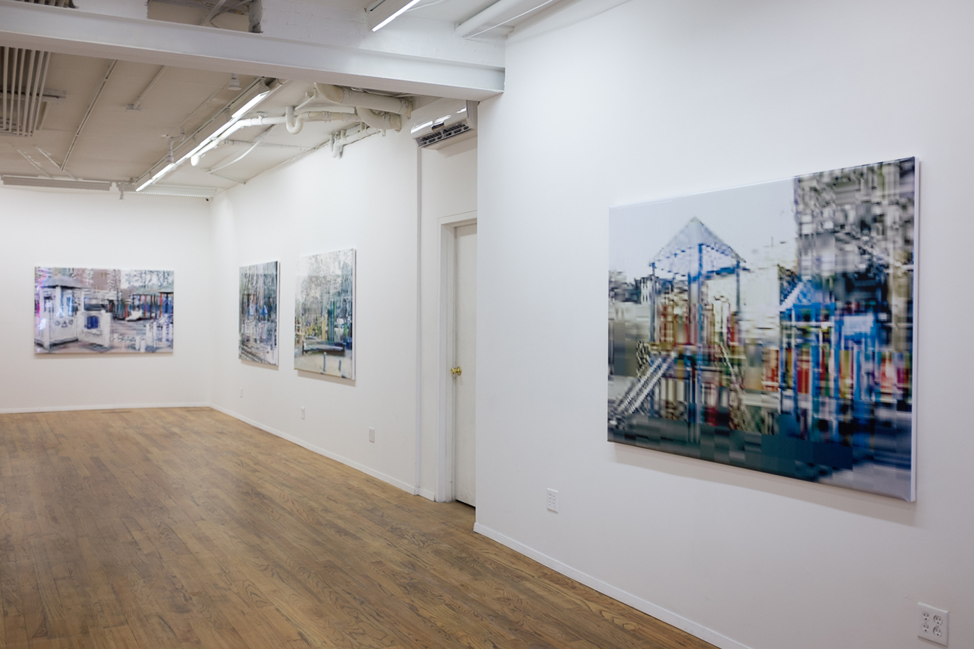 Installation view, 'Olaf Rauh: Playgrounds' at Galerie Richard (photo by the author for Hyperallergic) (click to enlarge)