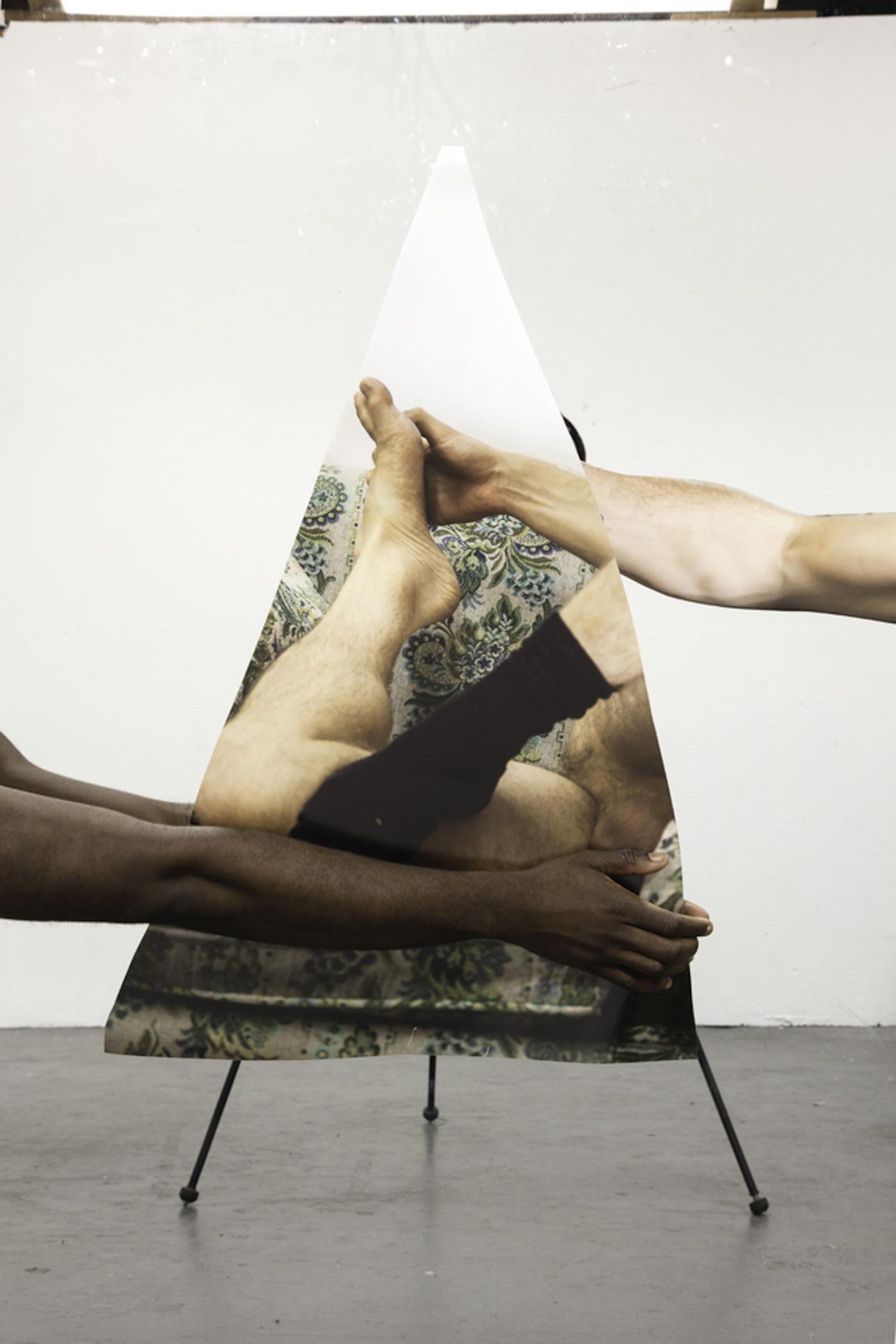 "Paul Mpagi Sepuya, ""Mirror Study"" Inkjet print, 36 x 52 in., 2016"