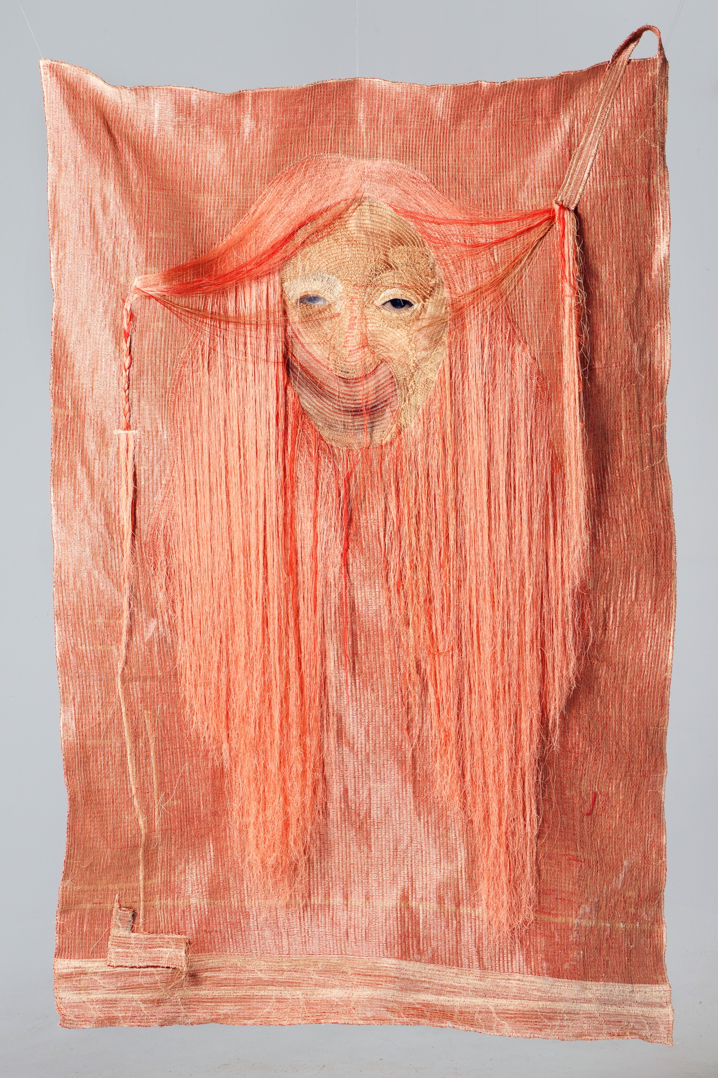 Yoon Ji Seon, Rag face#14002, 2014 Sewing on fabric and photograph, 66 7/8 x 42 7/8 in Courtesy the Artist andYossi Milo Gallery, New York