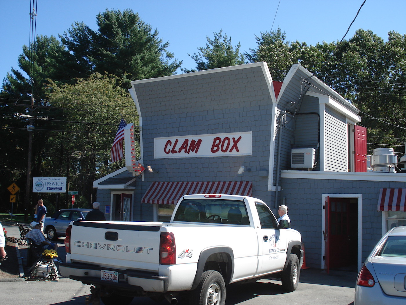 The Clam Box in Ipswich, Massachusetts (photo by Edward O'Connor/Flickr)