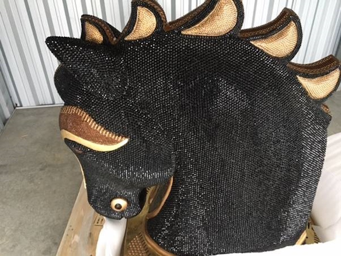 The seized horse sculpture used to smuggle cocaine into New Zealand (photo via police.govt.nz)