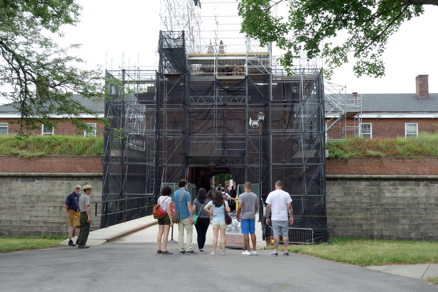 The eagle on Fort Jay, Governors Island