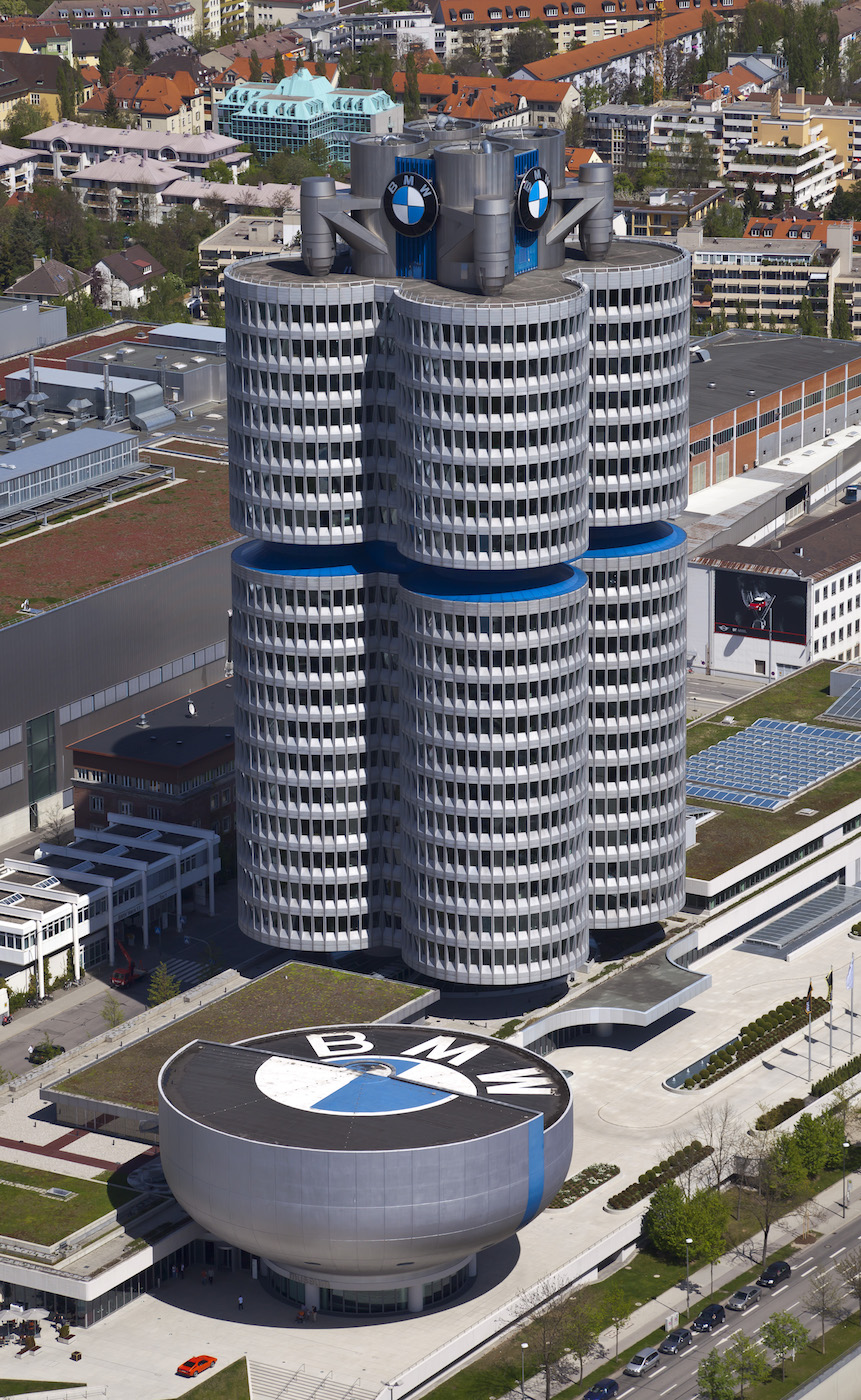 BMW Headquarters in Munich (photo by Diego Delso/Wikimedia)