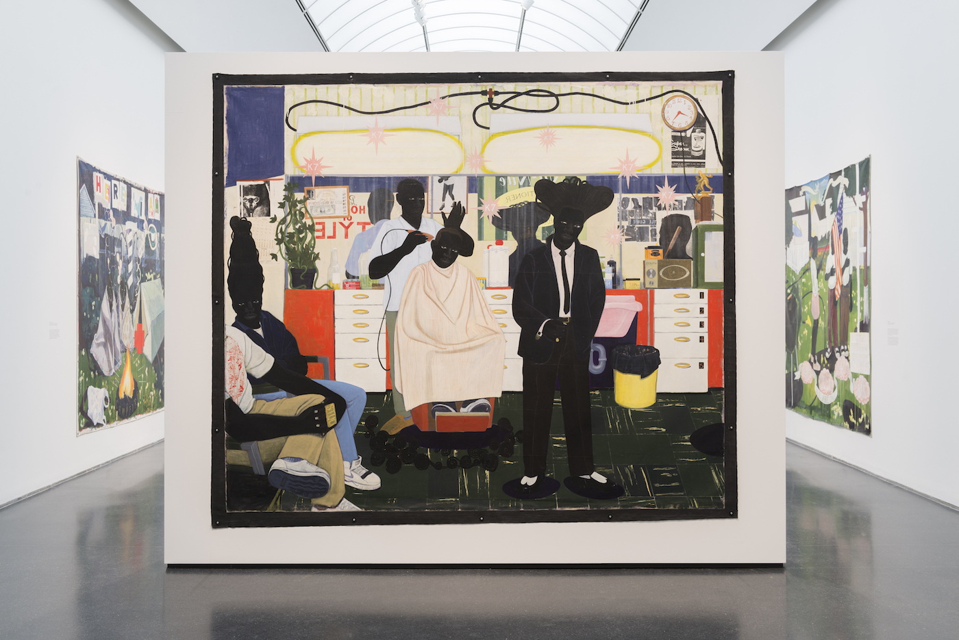 Installation view of 'Kerry James Marshall: Mastry' at the Museum of Contemporary Art Chicago (photo by Nathan Keay, © MCA Chicago)