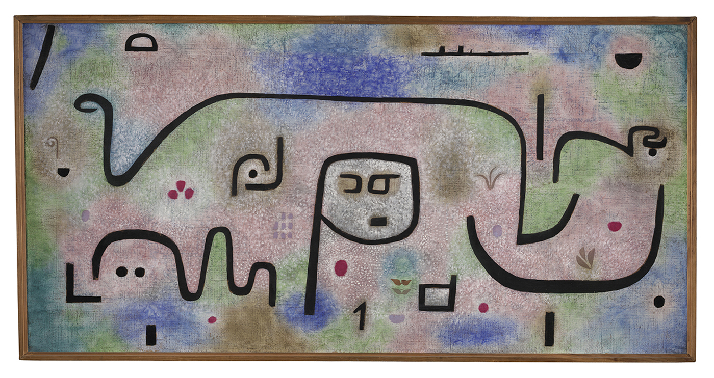 "Paul Klee, ""Insula dulcamara"" (1938), oil on paper on hessian canvas (courtesy Zentrum Paul Klee, Bern)"
