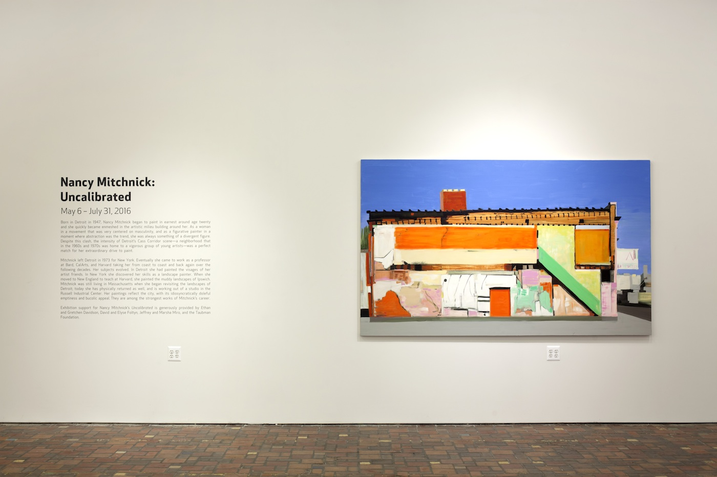 Installation view of Nancy Mitchnick's 'Uncalibrated' at the Museum of Contemporary Art Detroit