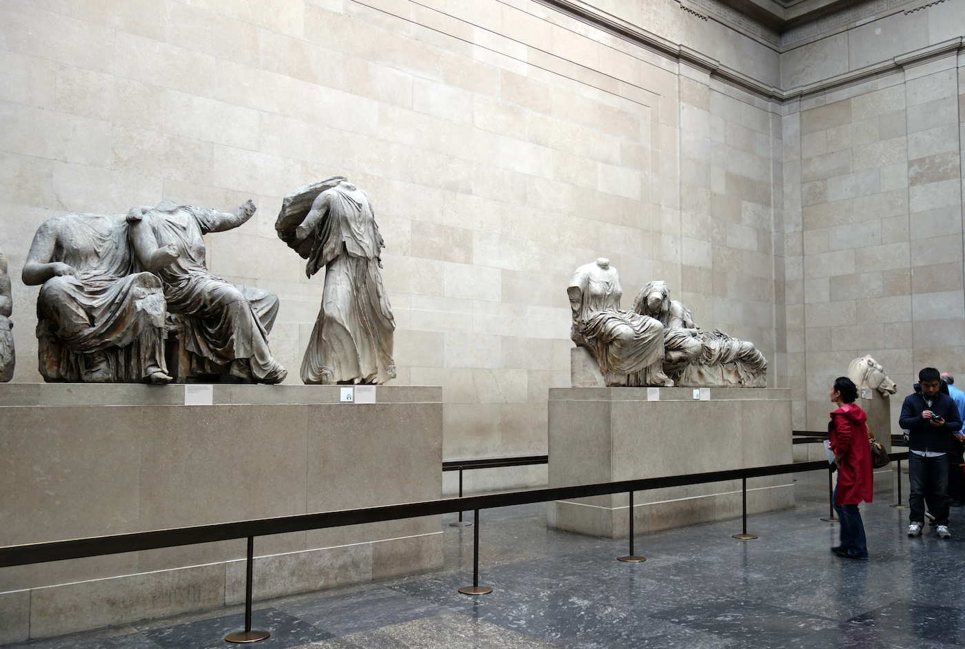 The Parthenon Marbles at the British Museum (all photos by the author for Hyperallergic)