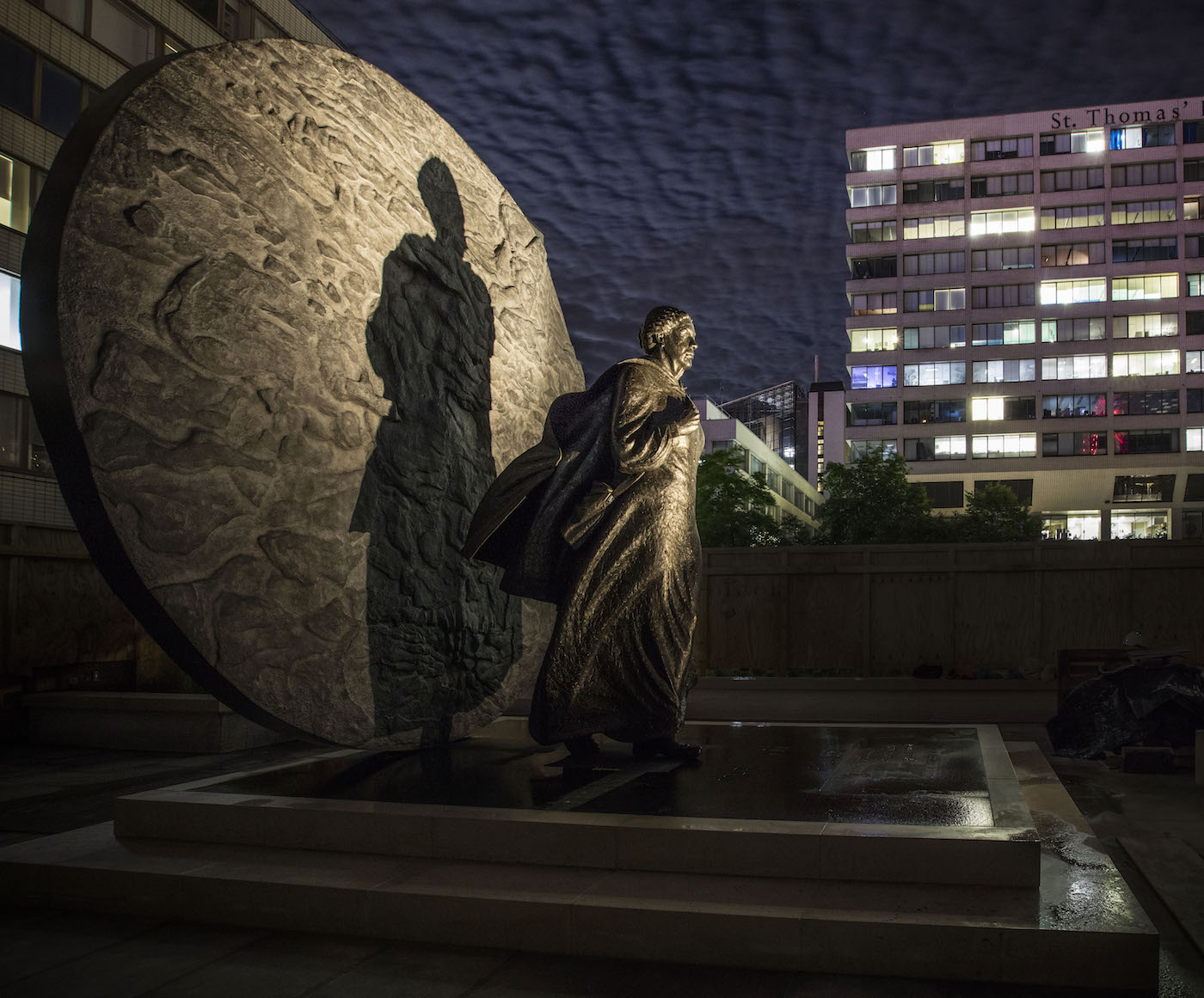 The Mary Seacole statue at night (courtesy the Mary Seacole Memorial Statue Appeal)