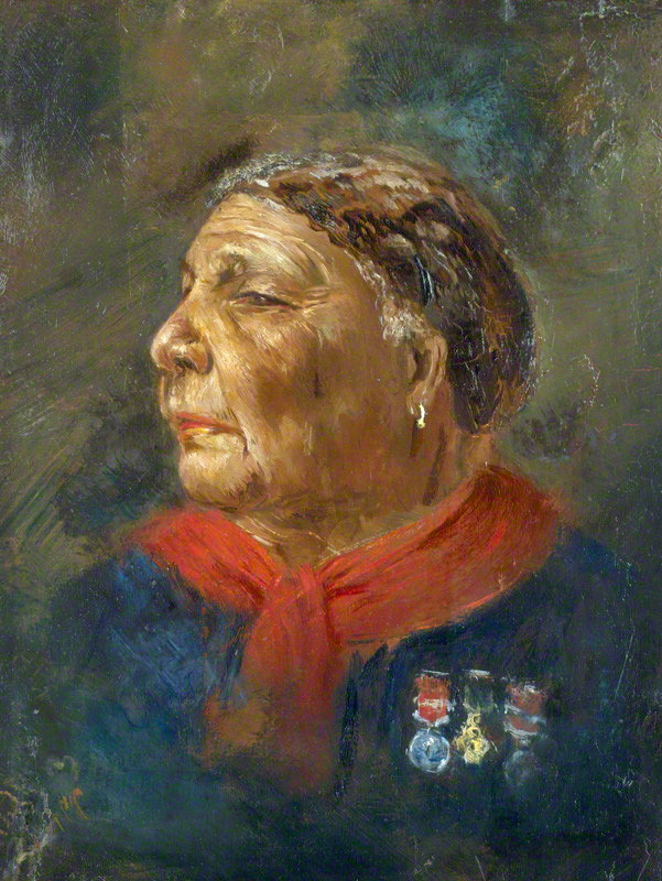 Portrait of Mary Seacole by Albert Charles Challen (1869) (via National Portrait Gallery/Wikimedia)