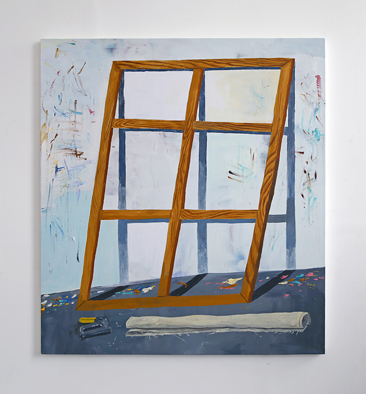 "Paul Gagner, ""Studio Windows"" (2014), oil on canvas"