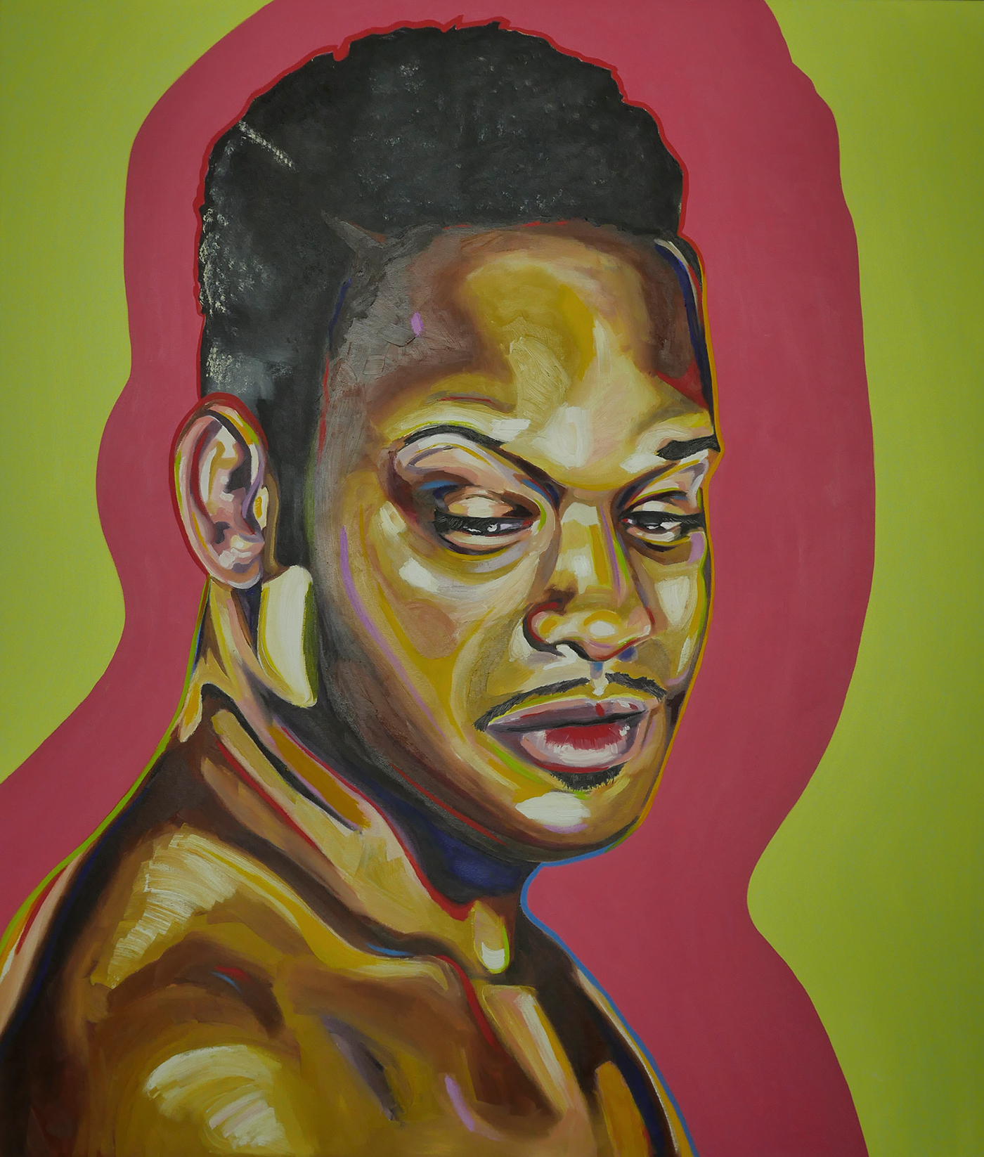 """Ryan Wilks, """"Eugene,"""" oil on canvas, 48"""" x 56"""" (click to enlarge)"""