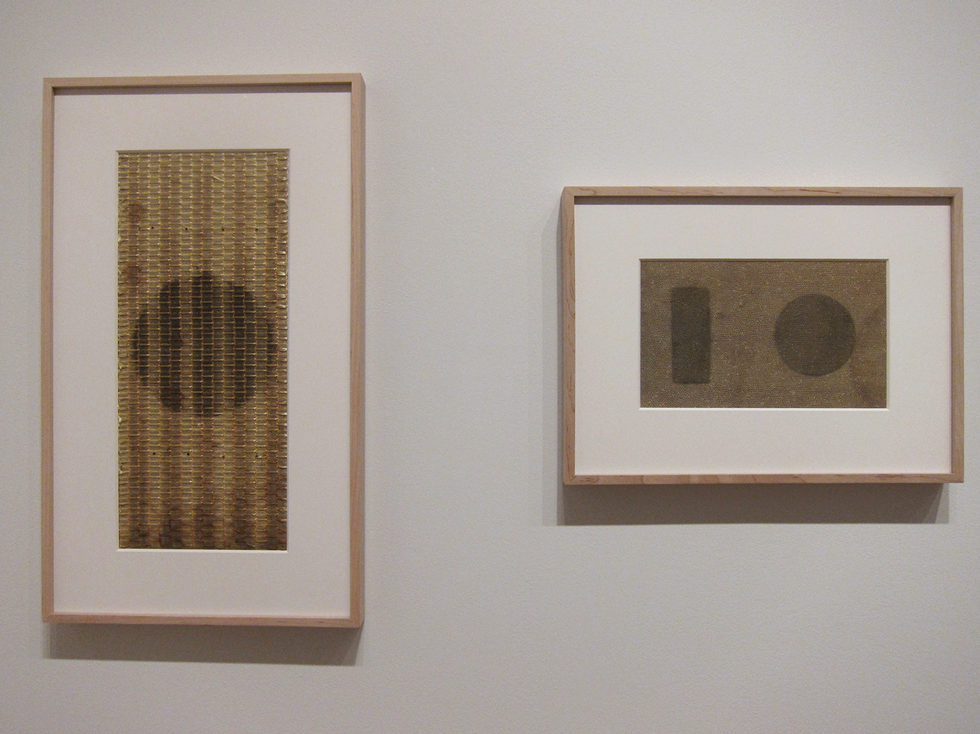 Detail of 'Gabriel de la Mora: Sound Inscriptions on Fabric' at the Drawing Center (photo by Claire Voon/Hyperallergic)