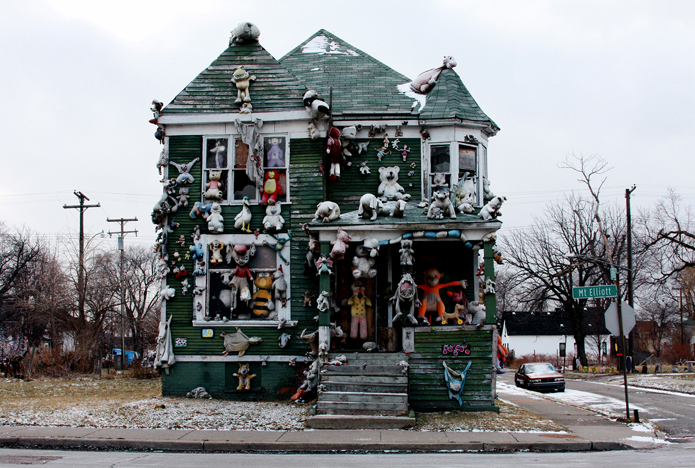 """The """"Party Animal House"""" which burned down in 2012."""