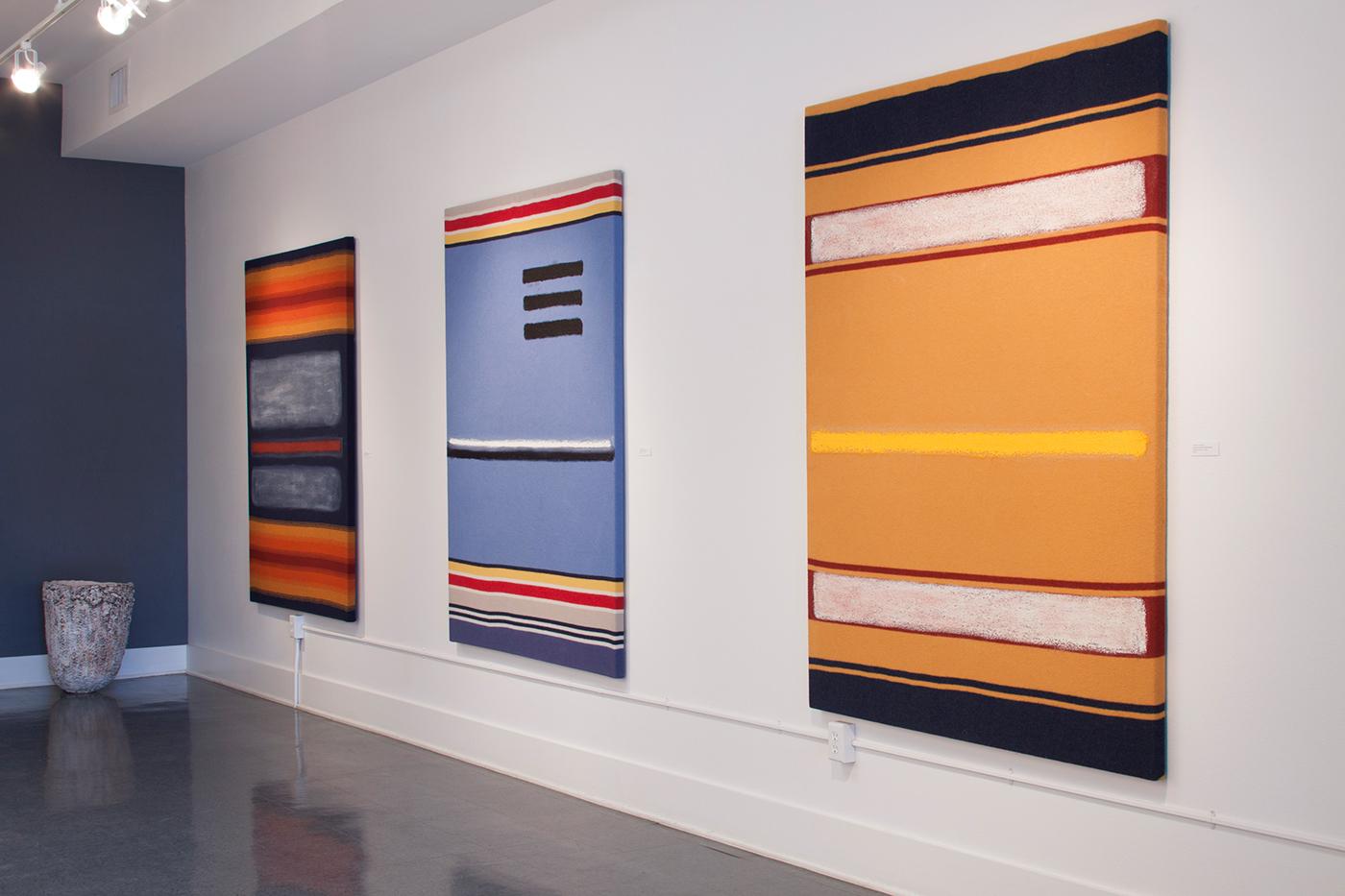 "Juventino Aranda, installation view, ""Shroud of Aztlan (Burial Shroud of the Southwest)"" (2015), Studio Two Zero Two, Walla Walla (photo by Jenna Gard, courtesy the artist)"