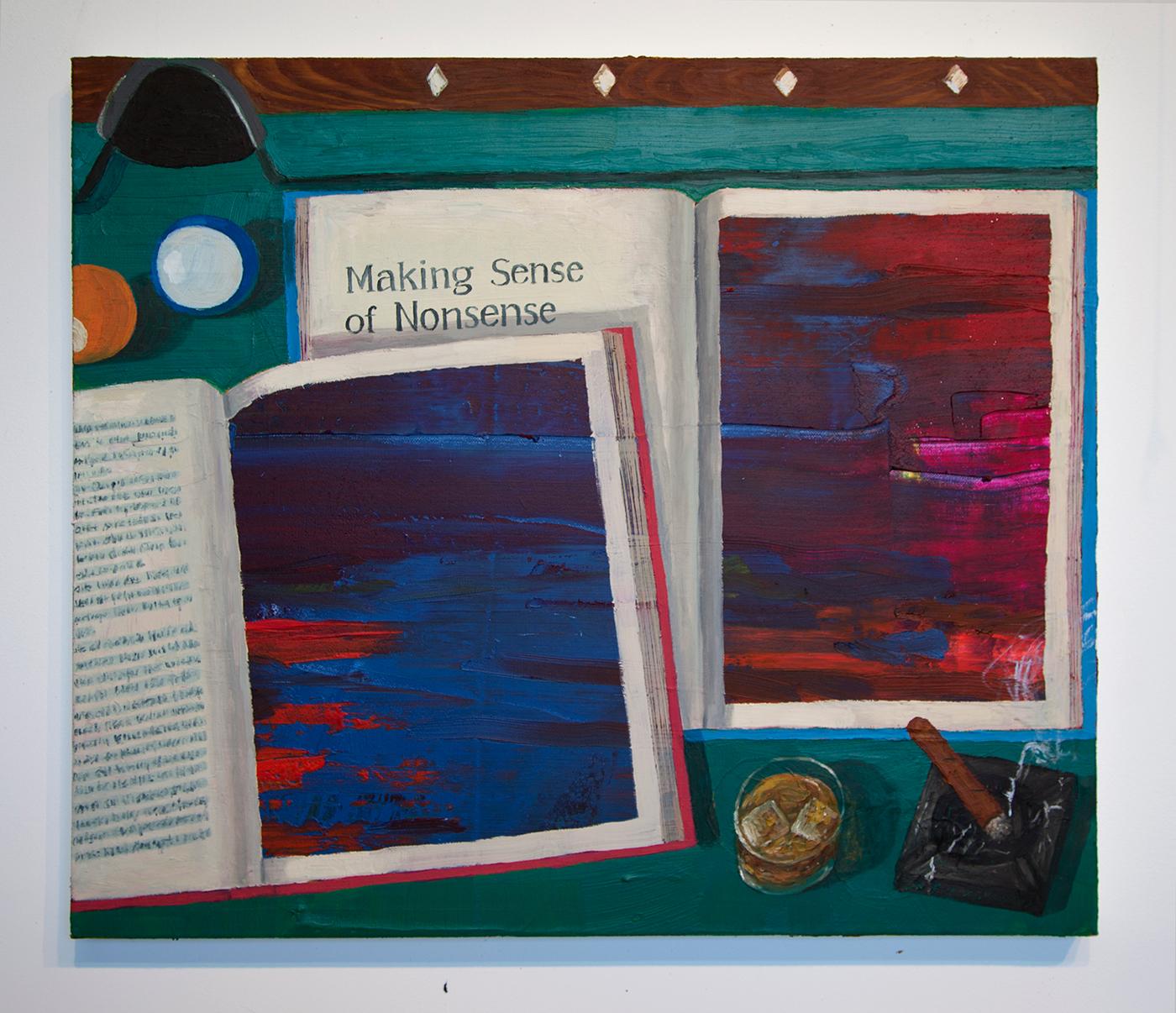 """Paul Gagner, """"Making Sense of Nonsense"""" (2015), oil on canvas"""