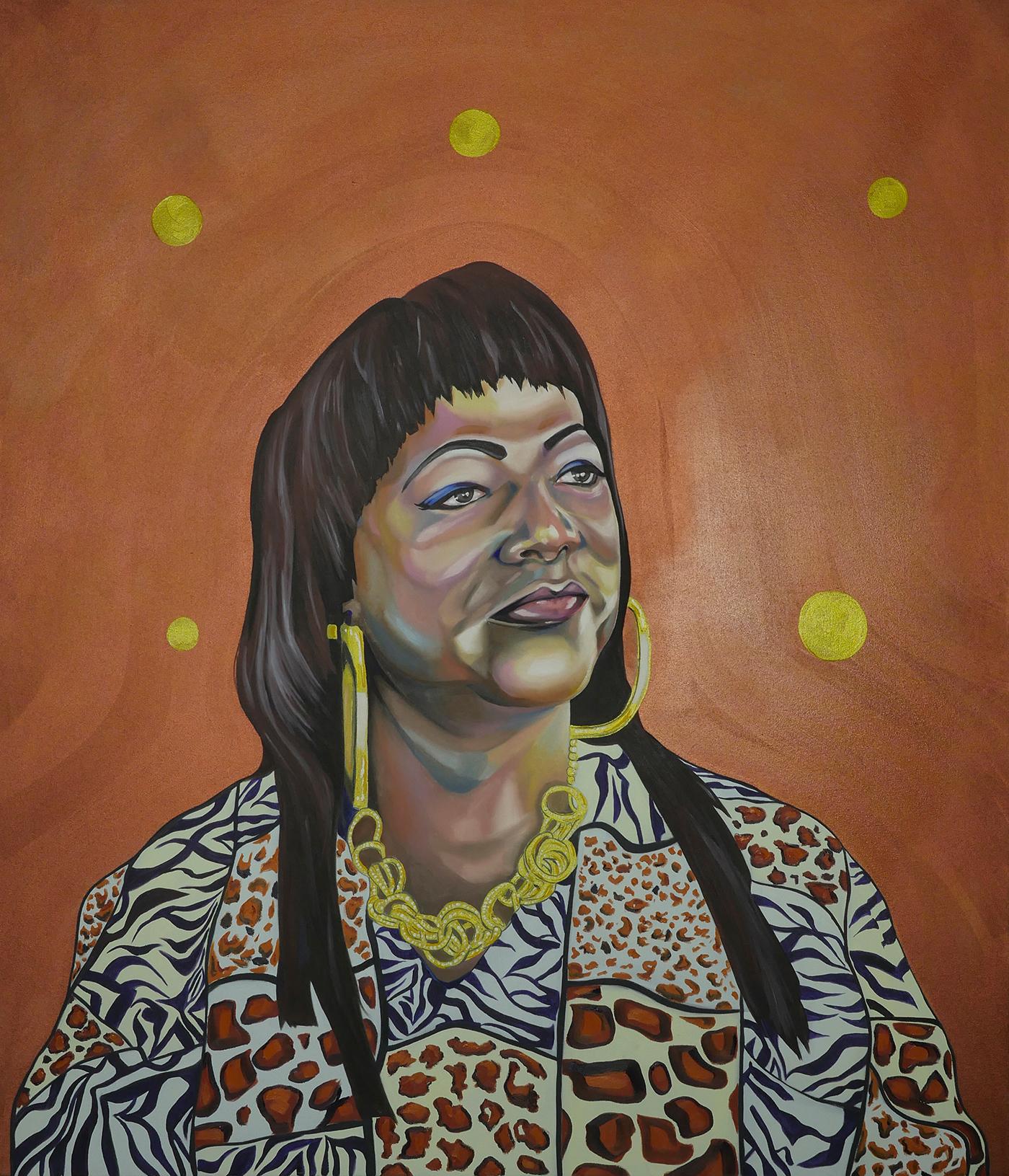 """Ryan Wilks, """"Terri,"""" oil on canvas, 48"""" x 56"""""""