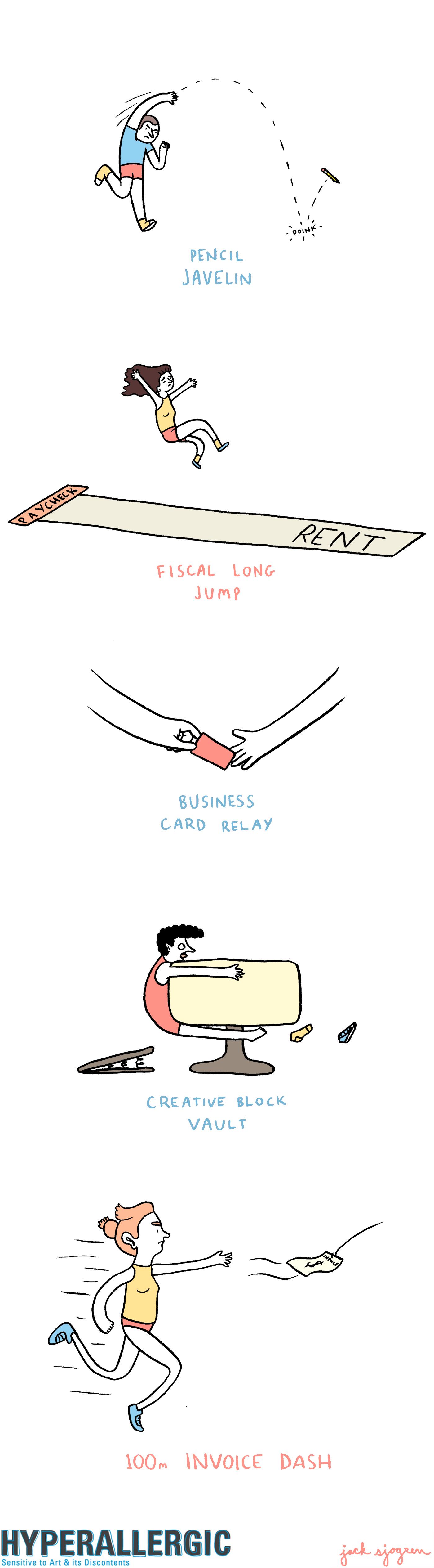 comic-freelance olympics