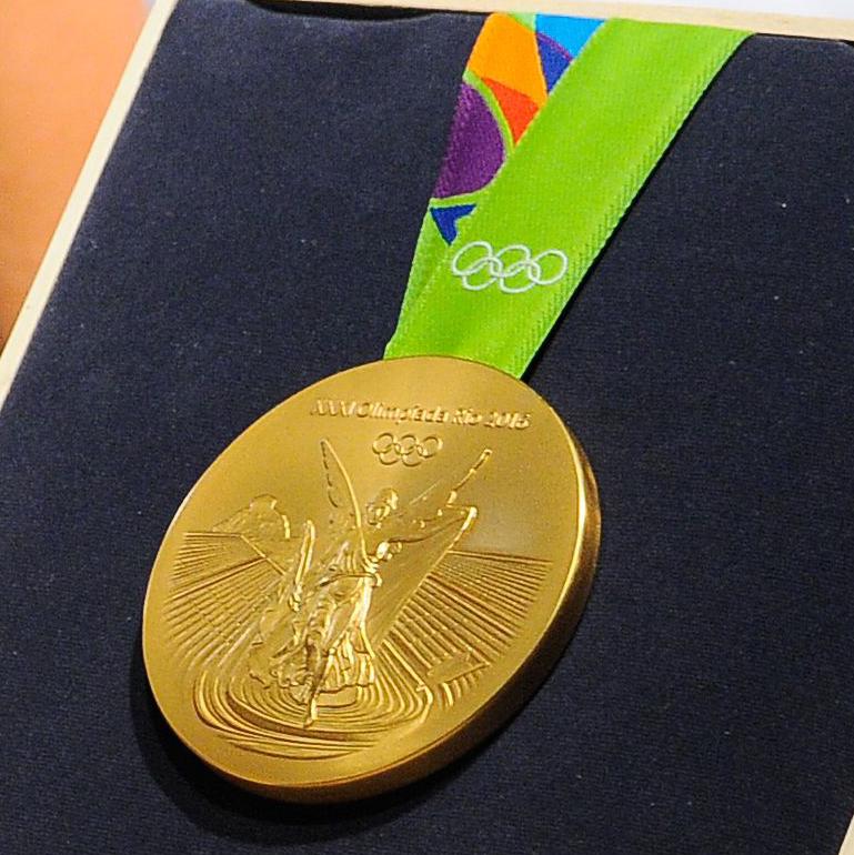 Rio de Janeiro - Medalhas olímpicas e paralímpicas são apresentadas pelo Comitê Rio 2016 durante cerimônia de divulgação no Parque Olímpico (Tomaz Silva/Agência Brasil)