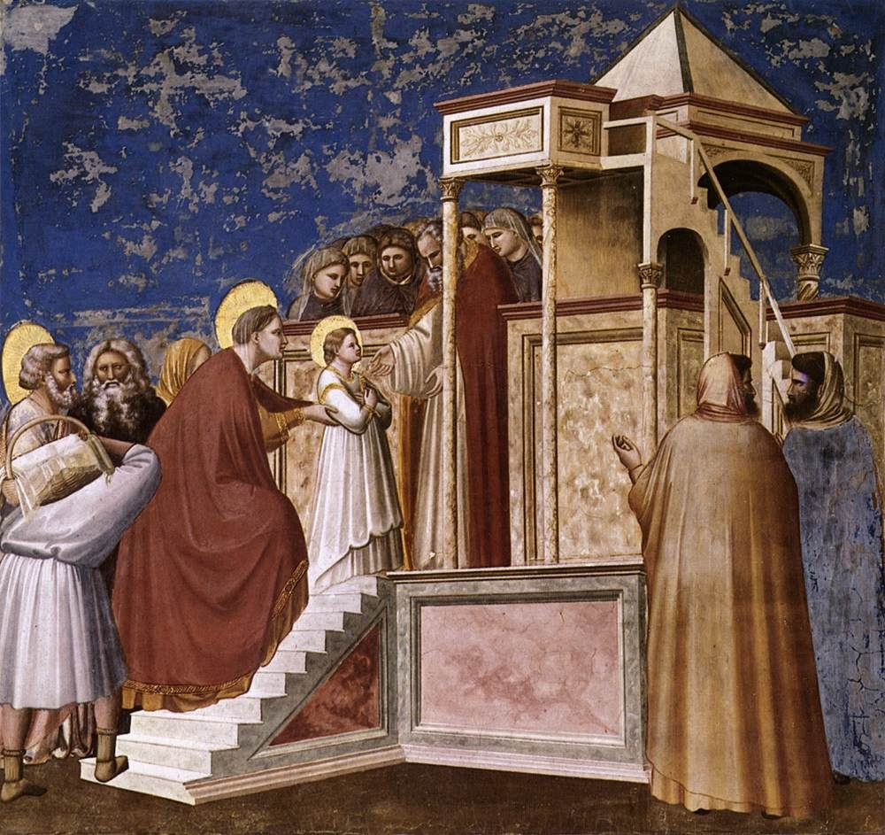 "Giotto, ""Presentation of the Virgin in the Temple"" (1308–11) (via Wikimedia Commons)"