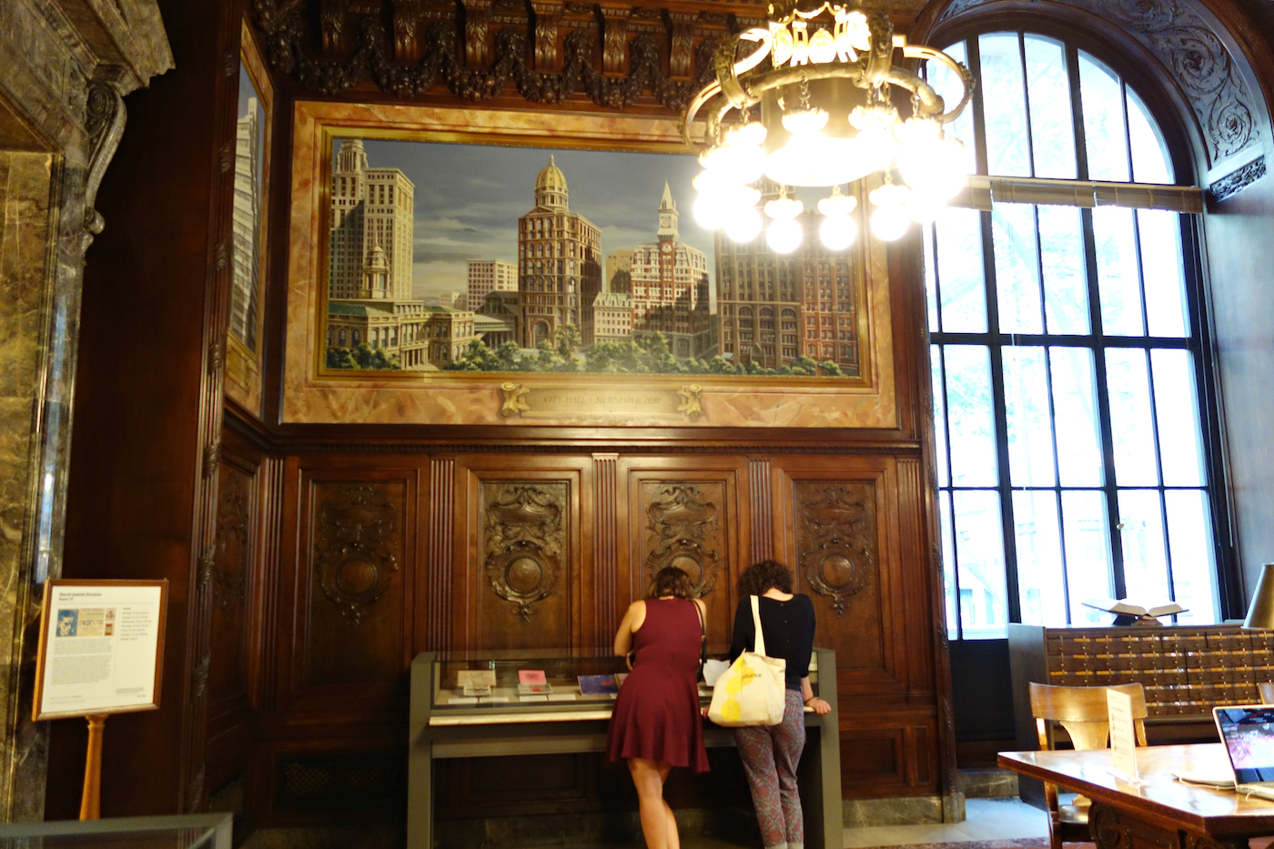 Installation view of 'Protests in Print' at the New York Public Library (photo by the author for Hyperallergic)