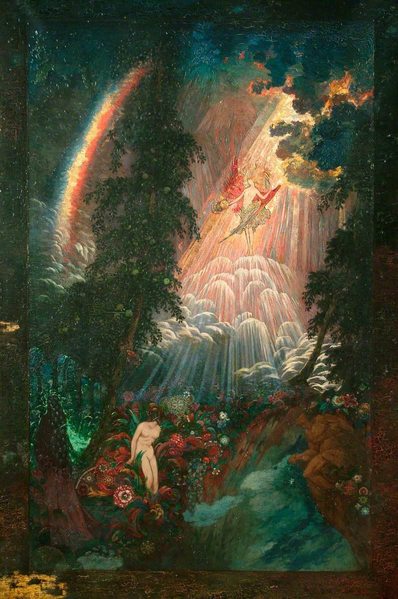 """Sidney Herbert Sime, """"Illustrative"""" (nd), oil on canvas (courtesy Sidney H. Sime Memorial Gallery, via Art UK)"""