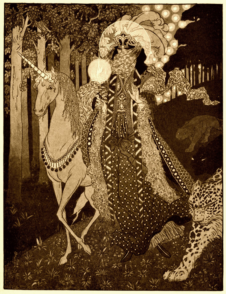 """Illustration by Sidney Herbert Sime for Lord Dunsany's """"A Dreamer's Tale"""" (1910) (via Wikimedia)"""