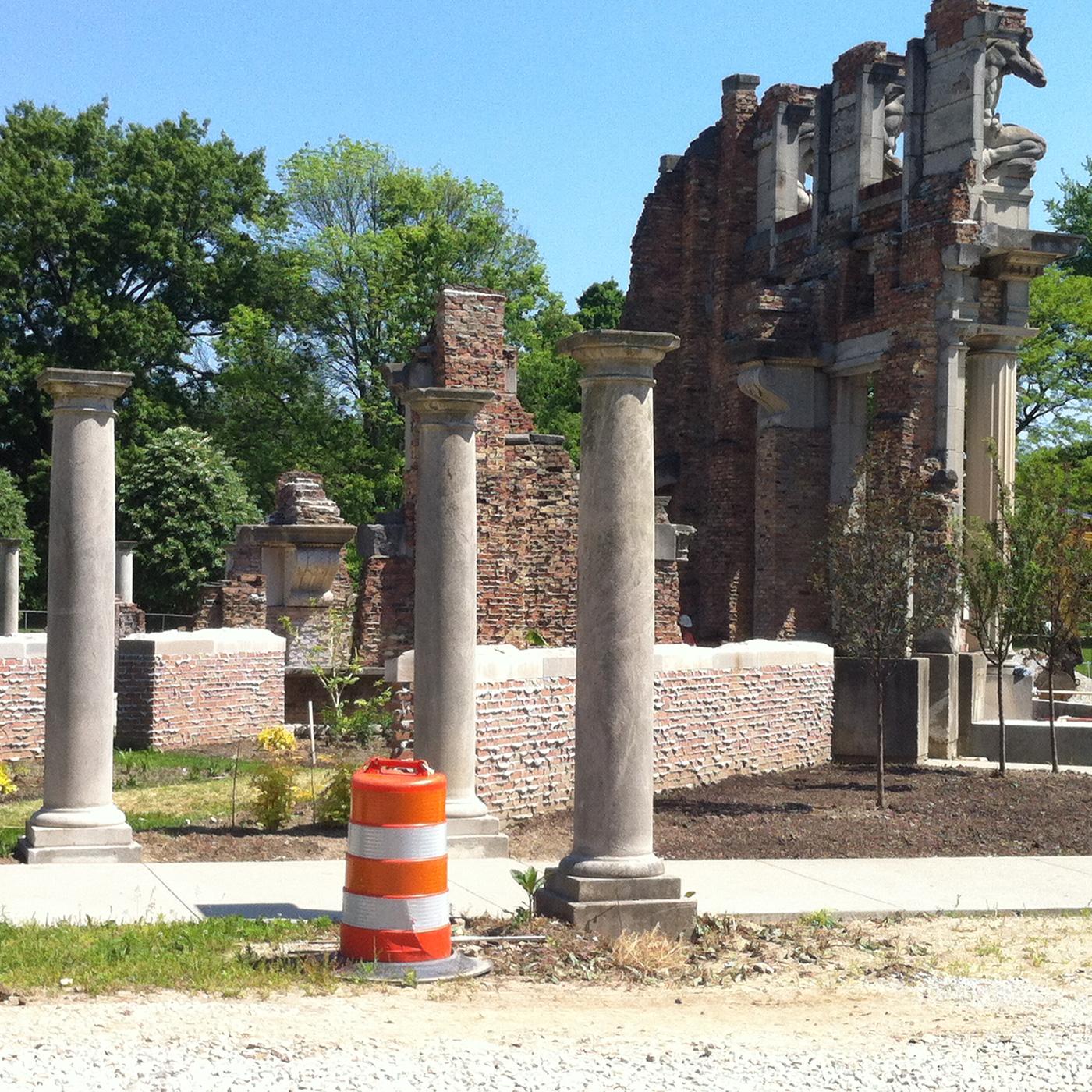 The Ruins at Holliday Park, Indianapolis, June 2016.