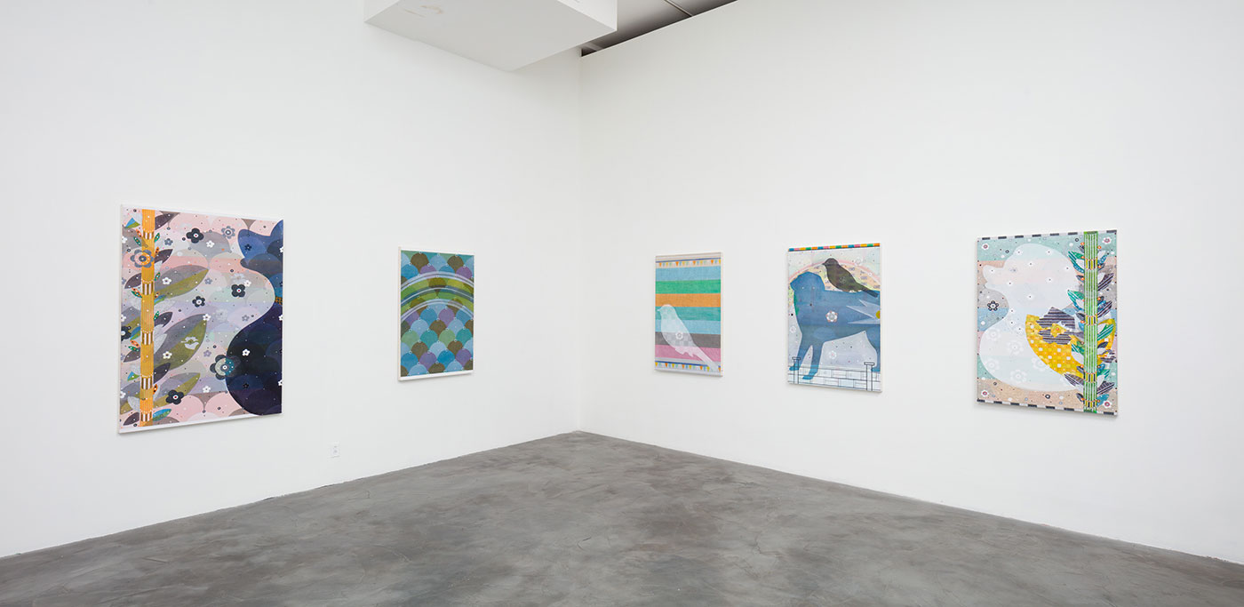 Installation view, 'Glenn Goldberg: Somewhere' at Charlie James Gallery' (all images courtesy Charlie James Gallery) (click to enlarge)