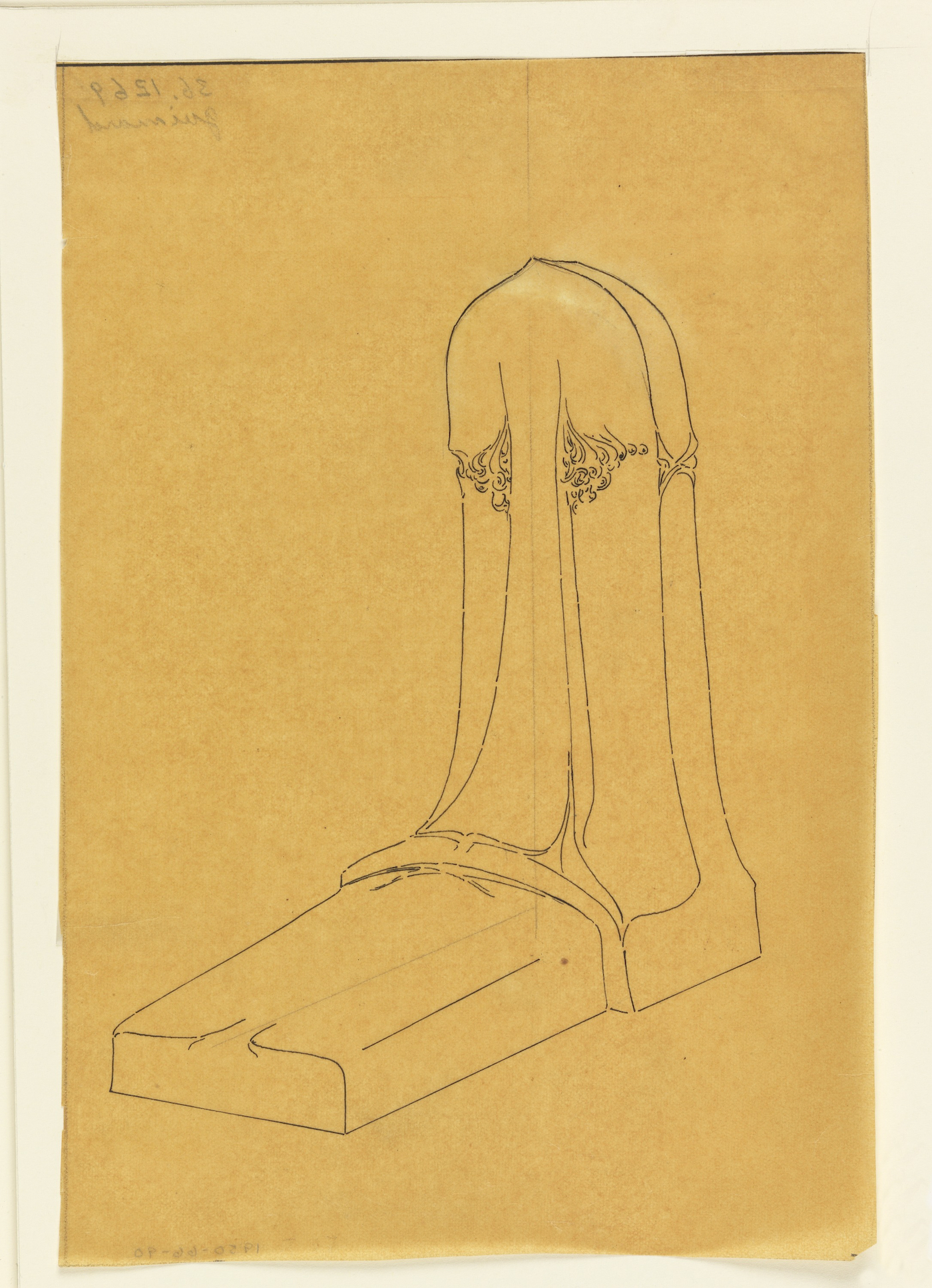 "Hector Guimard, 'Design for a Tombstone"" (c. 1900)"