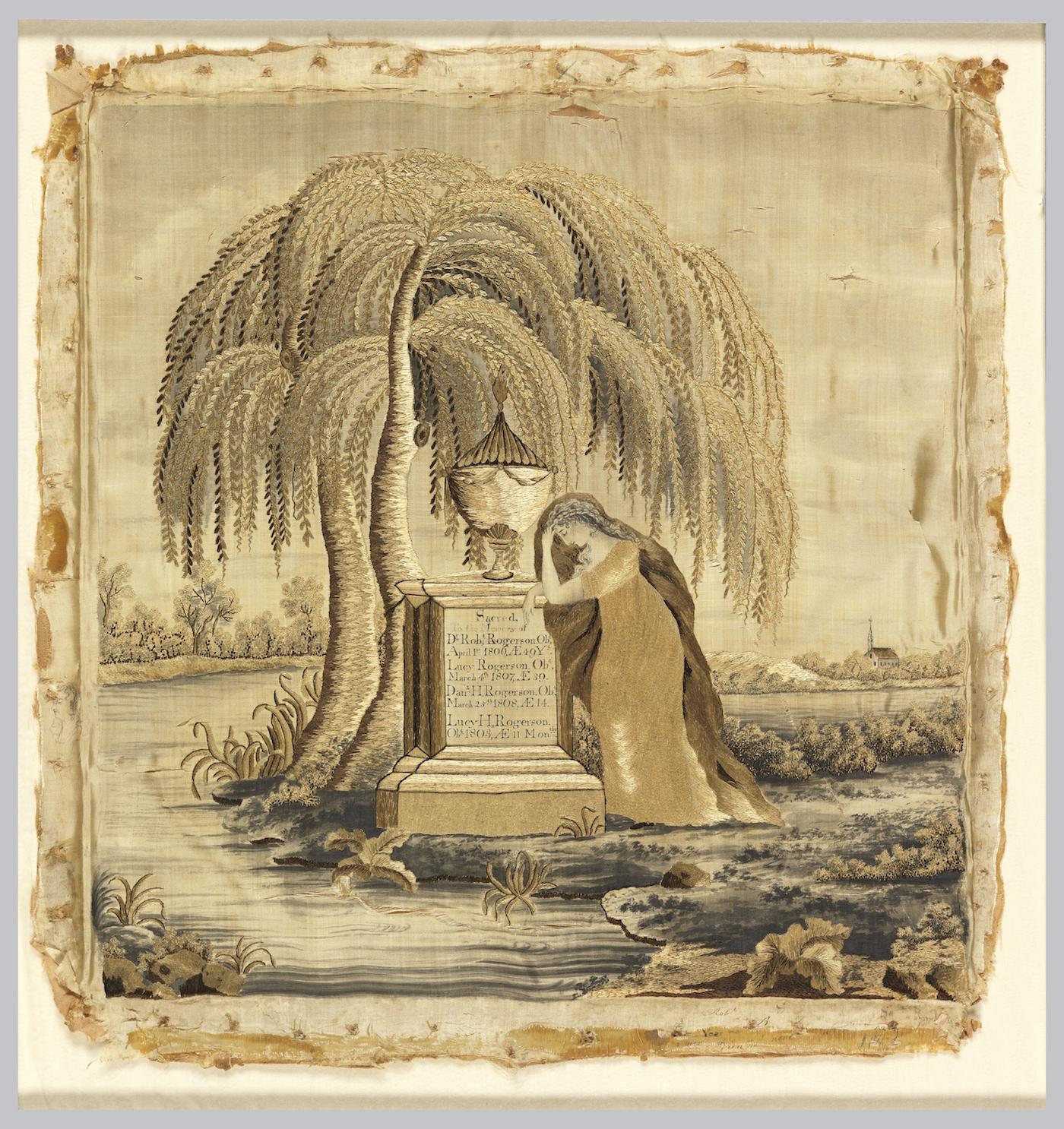 English mourning sampler (ca. 1810)