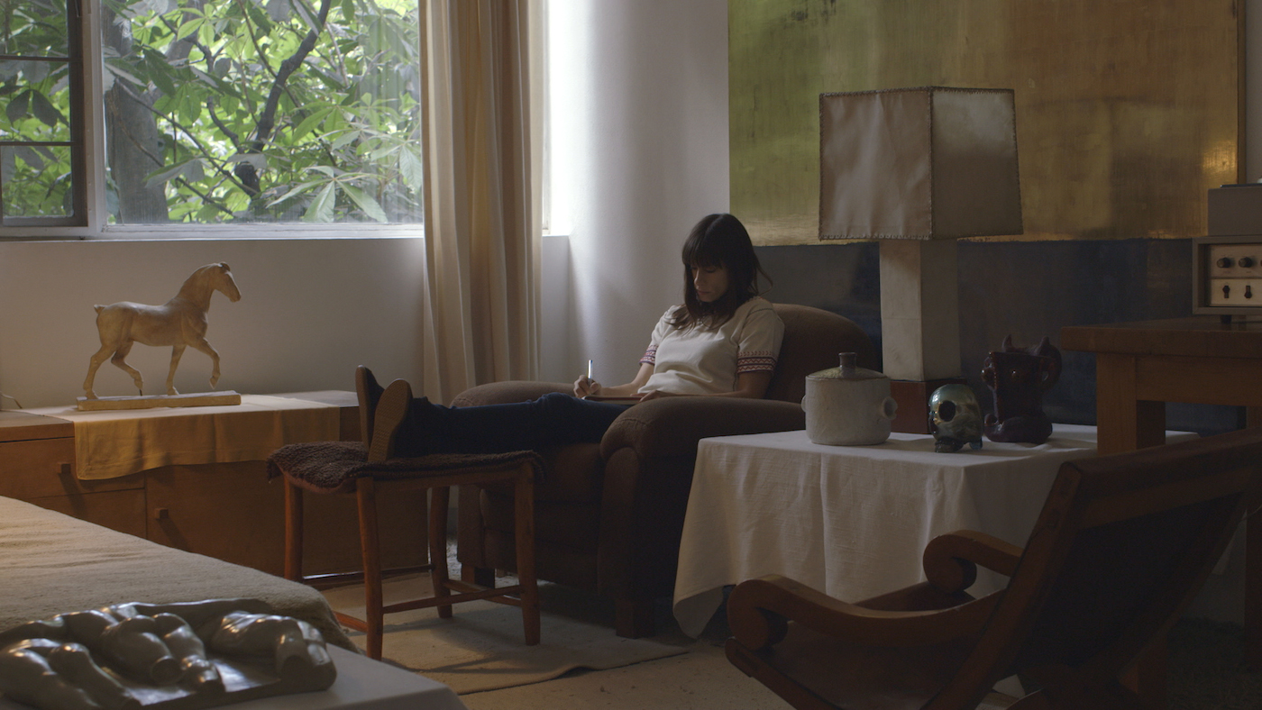 Jill Magid, still from work-in-progress film (2016), commissioned by Field of Vision as part of a larger project in collaboration with the artist (photo by Jarred Alterman)
