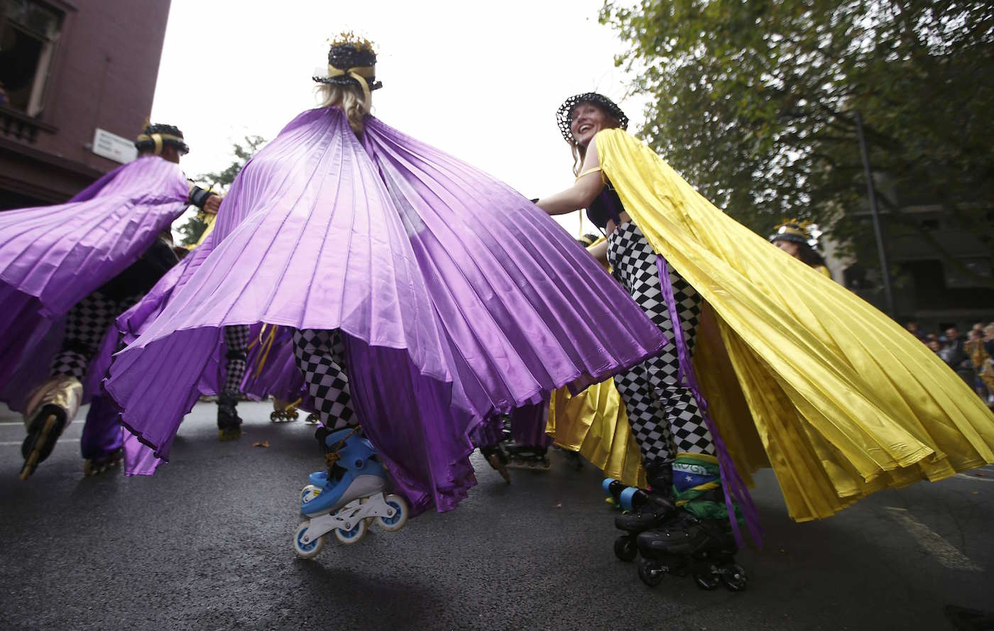 Performers participate in the children's day parade at the Notting Hill Carnival in London, Britain August 28, 2016. REUTERS/Peter Nicholls