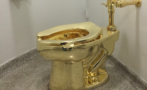 "Post image for Waiting to Pee in ""America,"" the Gold Toilet at the Guggenheim"