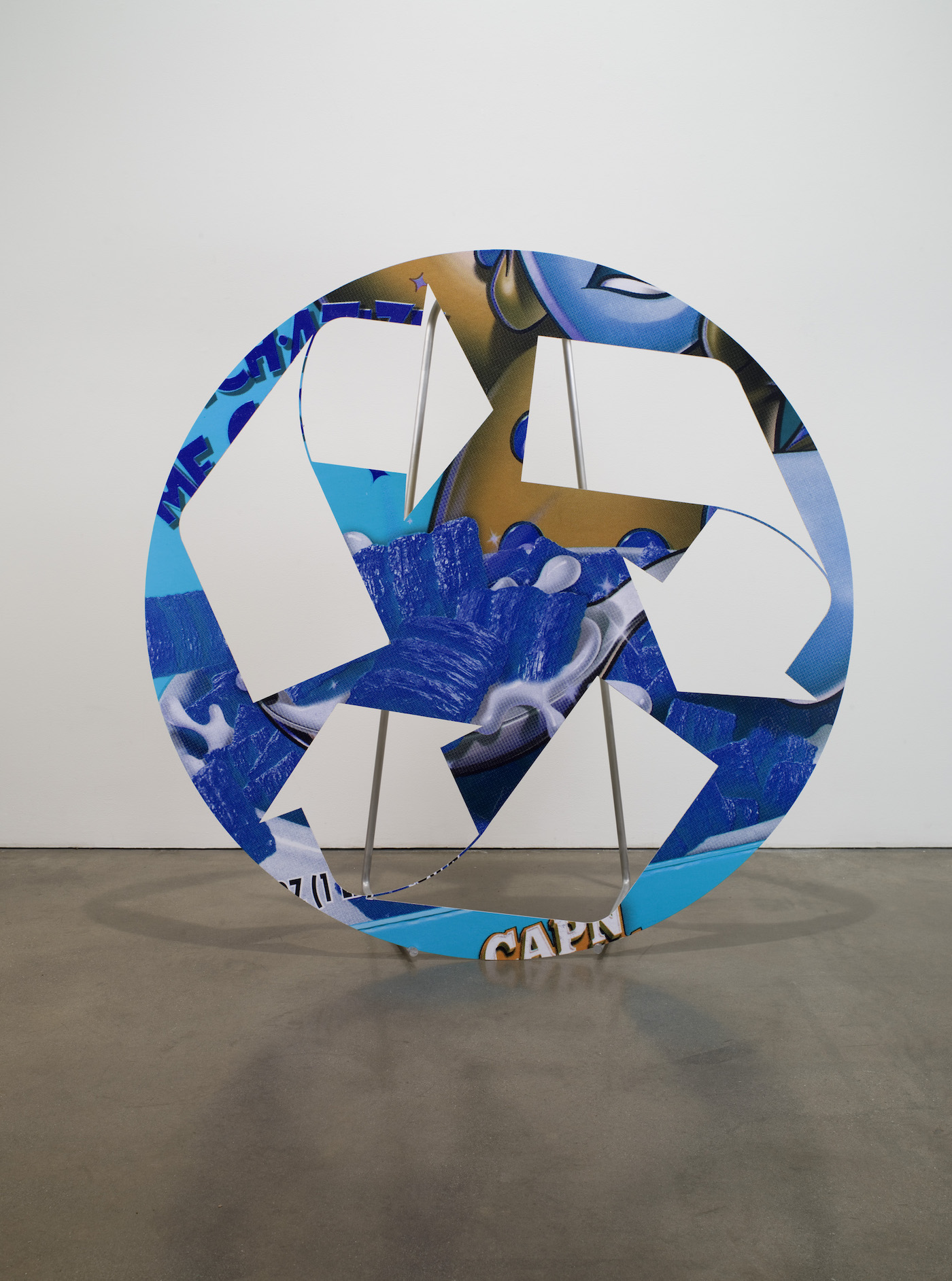 """Also on view in 'Direct Drive': Kelley Walker, """"Untitled +180 or -180 hue"""" (2007) (Nancy and Stanley Singer Collection)"""