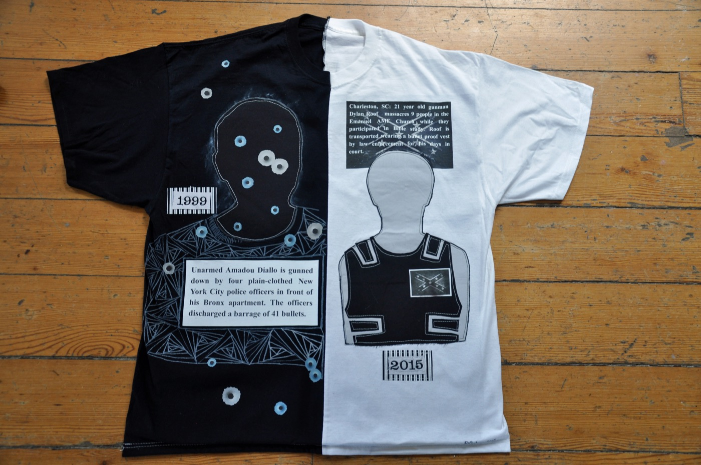 Another view of Laura Gadson's tee shirts