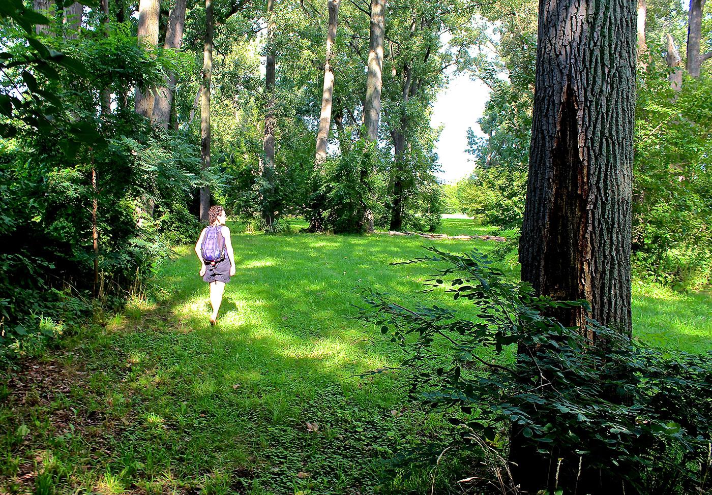 "Bridget Michael, leading ""Mindful Pathways."""