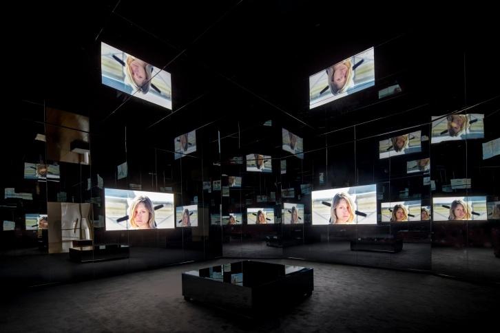"Doug Aitken, ""Black Mirror"" (2011) (photo: Norbert Miguletz, via moca.org)"