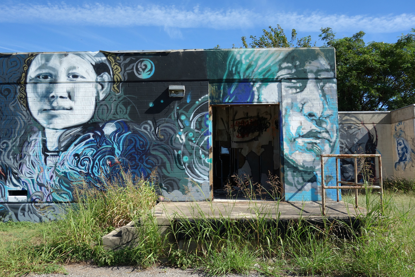 a mural honors the ruins of an american indian boarding school. Black Bedroom Furniture Sets. Home Design Ideas
