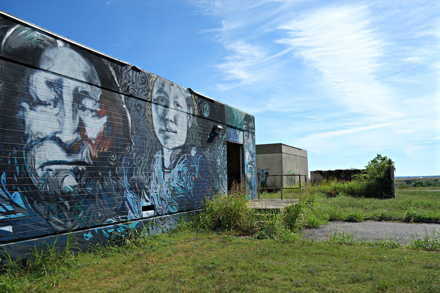 El Reno Oklahoma >> A Mural Honors the Ruins of an American Indian Boarding School