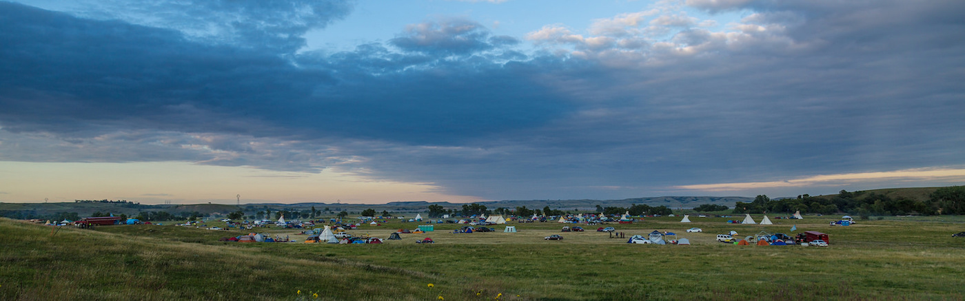 The Sacred Stone Camp protest site for the Dakota Access Pipeline near Cannon Ball, North Dakota (photo by Tony Webster/Flickr)