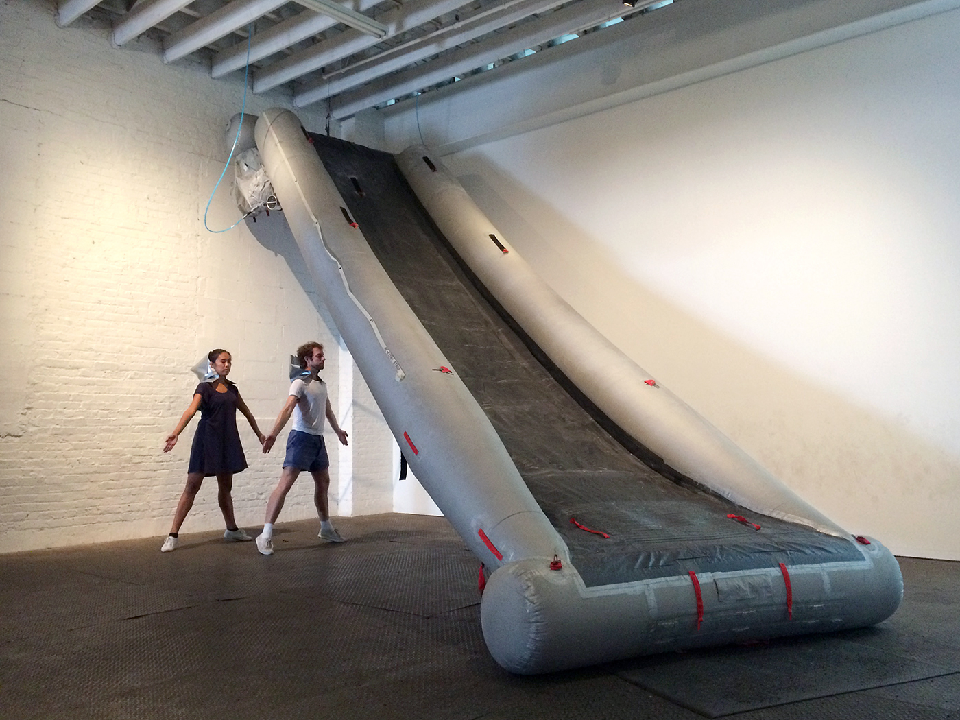 """Performance of Madeine Hollander's """"Drill"""" at SIGNAL (click to enlarge)"""