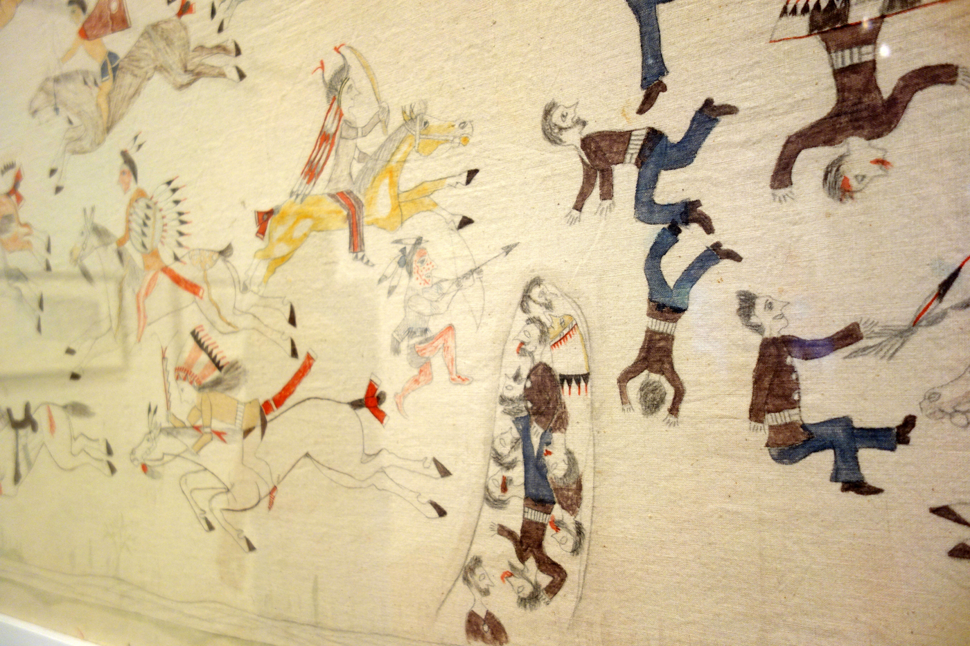 Installation view of 'First Person: Remembering Little Bighorn' (photo by the author for Hyperallergic)