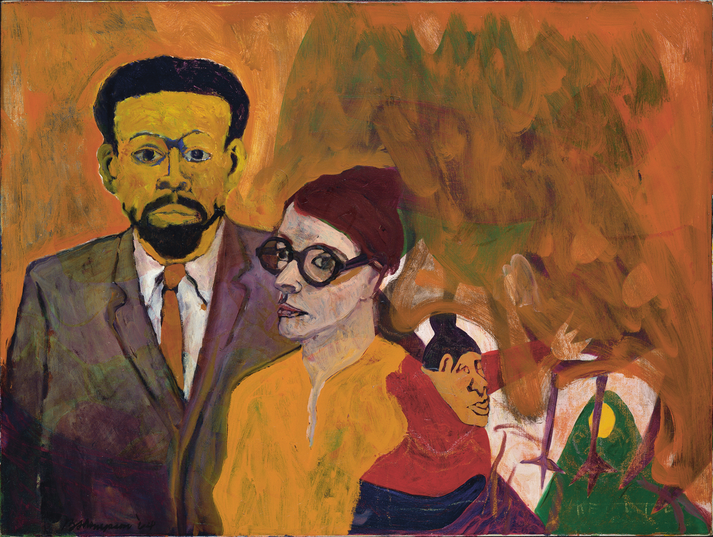 """Bob Thompson, """"Le Roi Jones and his Family"""" (1964), oil on canvas, Hirshhorn Museum and Sculpture Garden, Smithsonian Institution, Washington, DC (© Estate of Bob Thompson; Courtesy of Michael Rosenfeld Gallery LLC, New York, NY; photo by Lee Stalsworth)"""