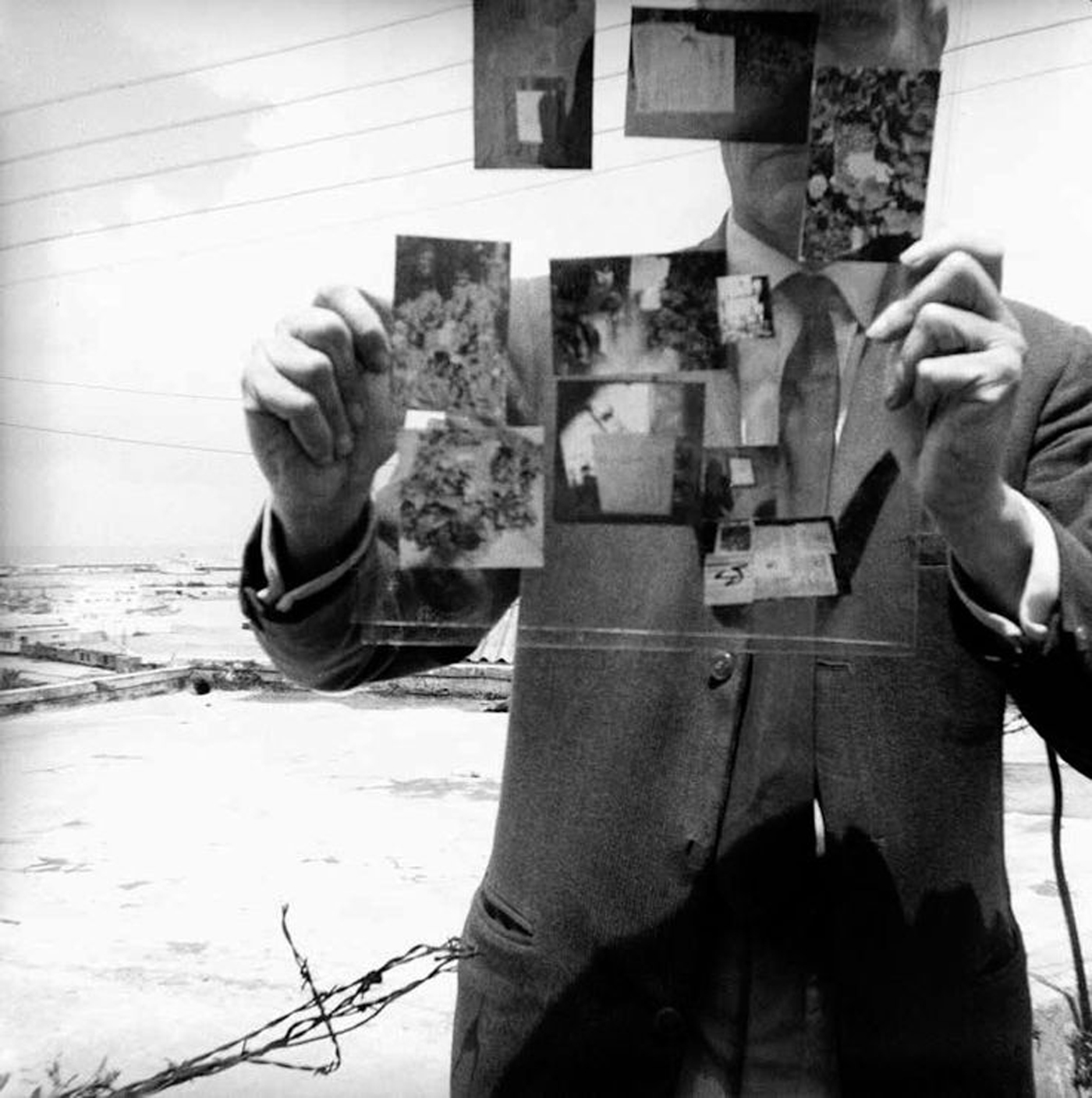 "William Burroughs, ""Self-Portrait, Tangiers"" (1964) (photo by the author for Hyperallergic)"
