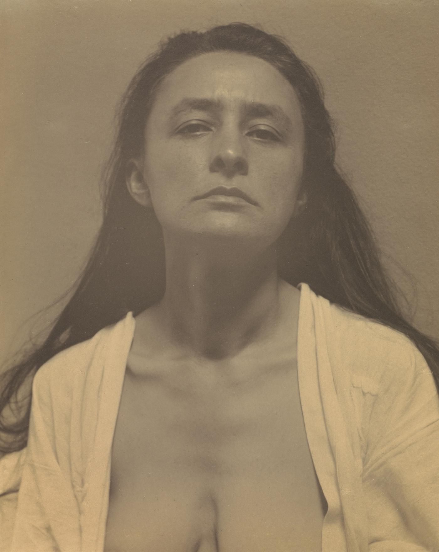 Georgia O'Keeffe: A Portrait; Alfred Stieglitz (American, 1864 - 1946); United States; 1918; Palladium print; 24.8 x 20.3 cm (9 3/4 x 8 in.); 91.XM.63.13
