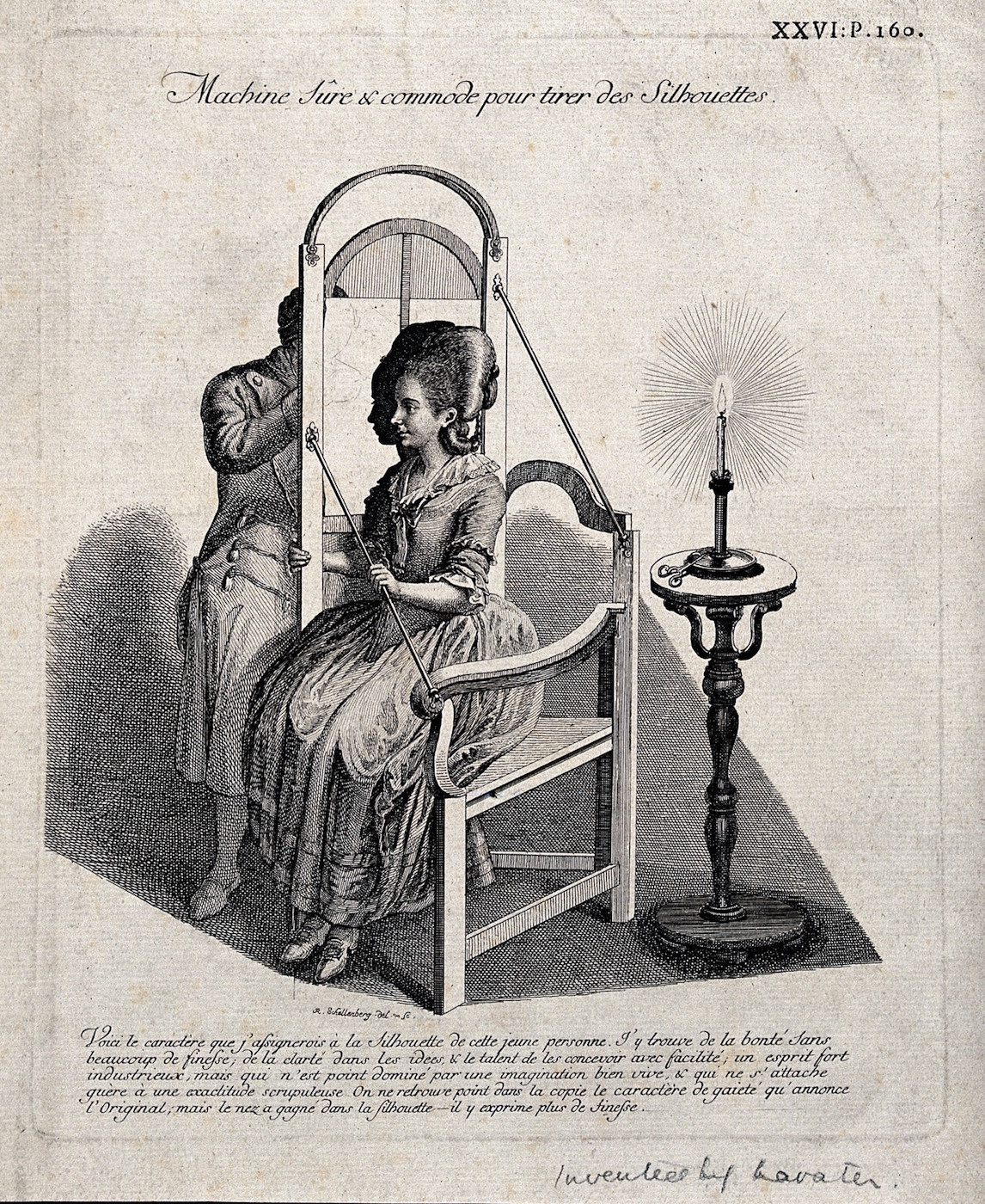 A man drawing the silhouette of a woman with translucent paper illuminated by a candle (via Wellcome Images/Wikimedia)