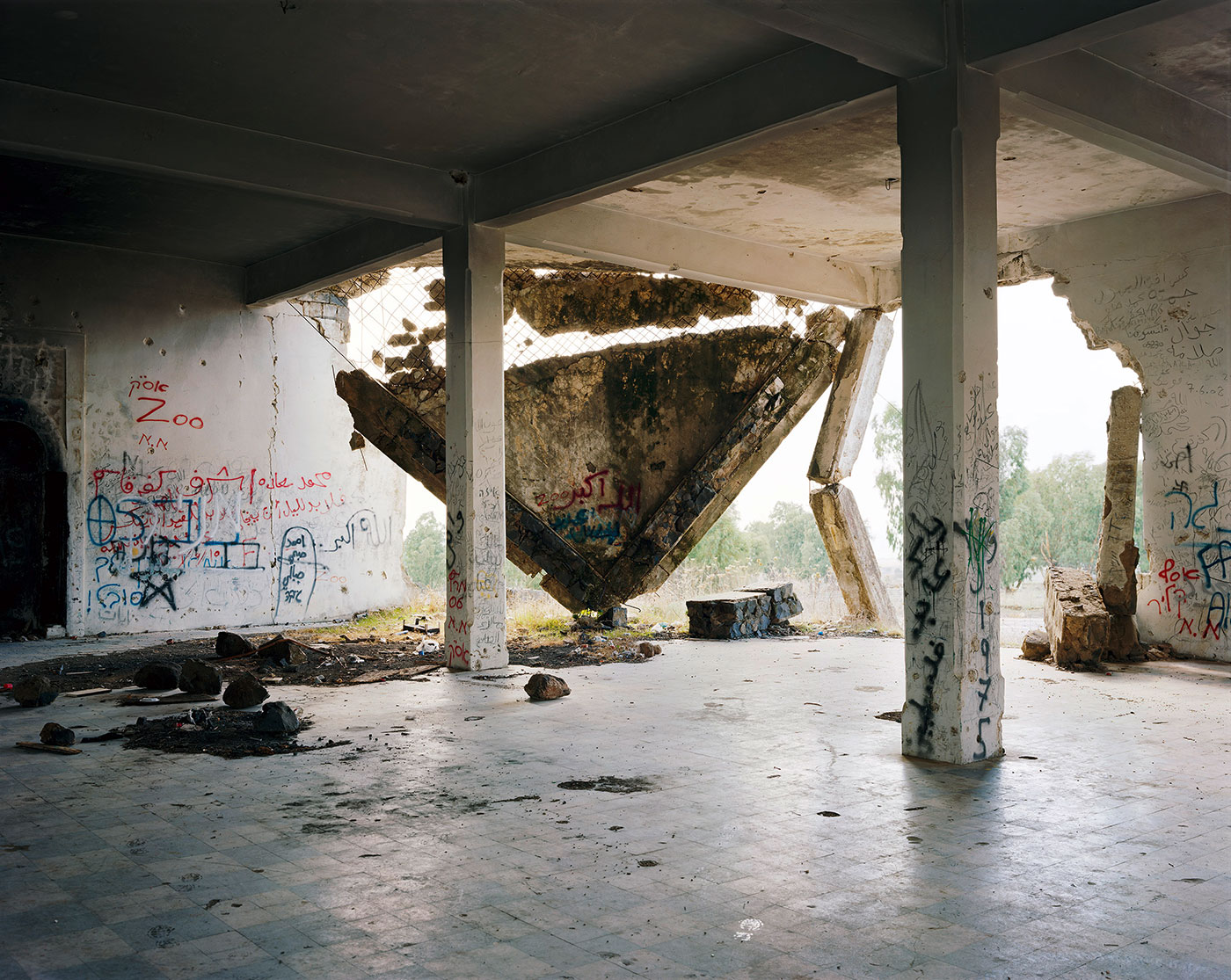 """Thomas Struth, """"Hushniya, Golan Heights"""" (2011), inkjet print, 118.3 x 146.3 cm (© Thomas Struth)"""