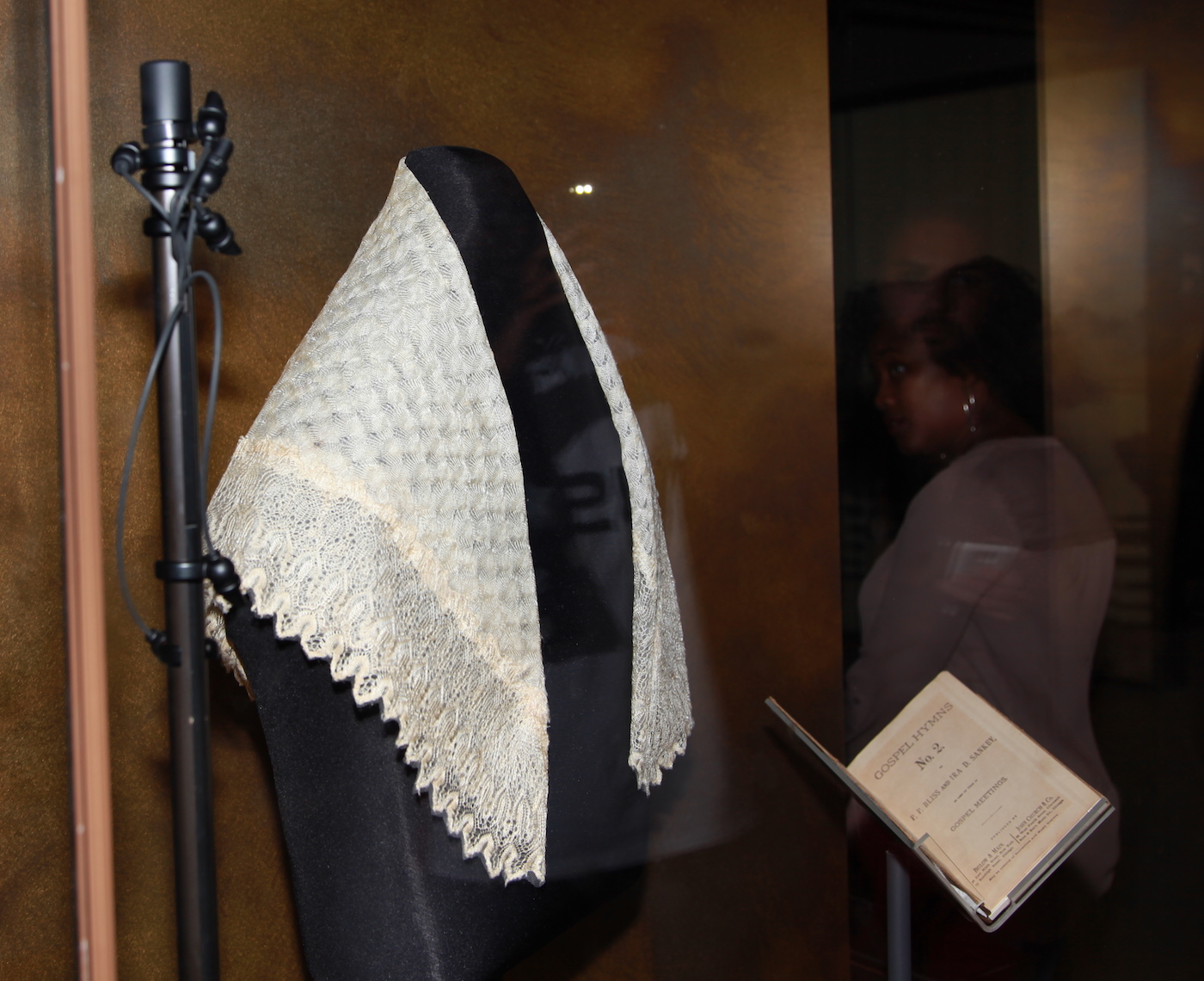 Harriet Tubman's scarf and hymnal at the National Museum of African American History and Culture in Washington, DC