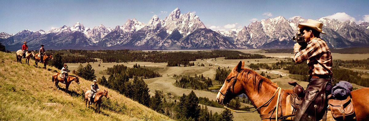 "Herbert Archer and John Hood, ""Cowboys in Grand Tetons, Wyoming"" (1964) (courtesy George Eastman Museum, gift of Eastman Kodak Company)"