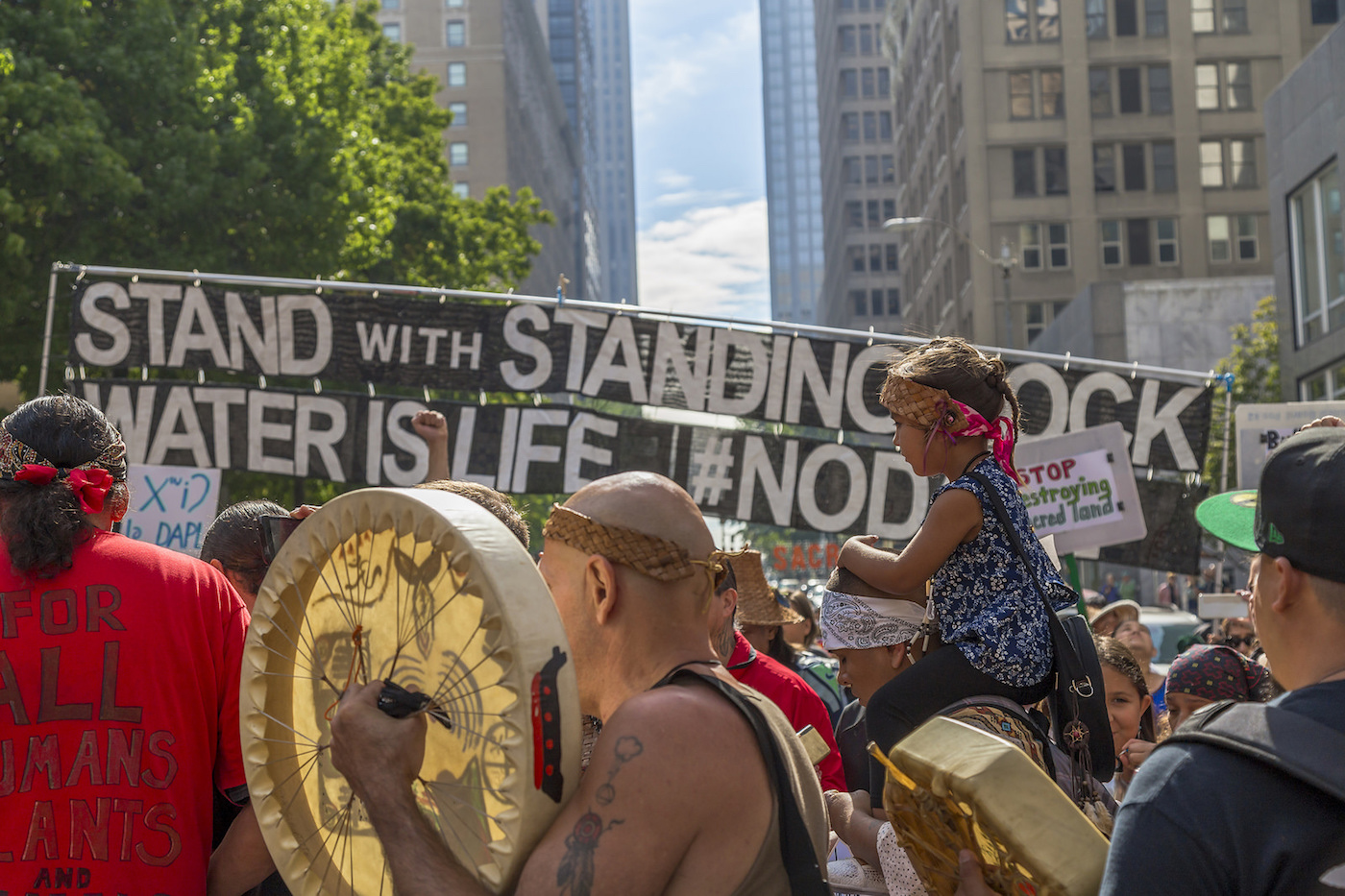 Stand with Standing Rock march this month in Seattle (photo by John Duffy/Flickr)